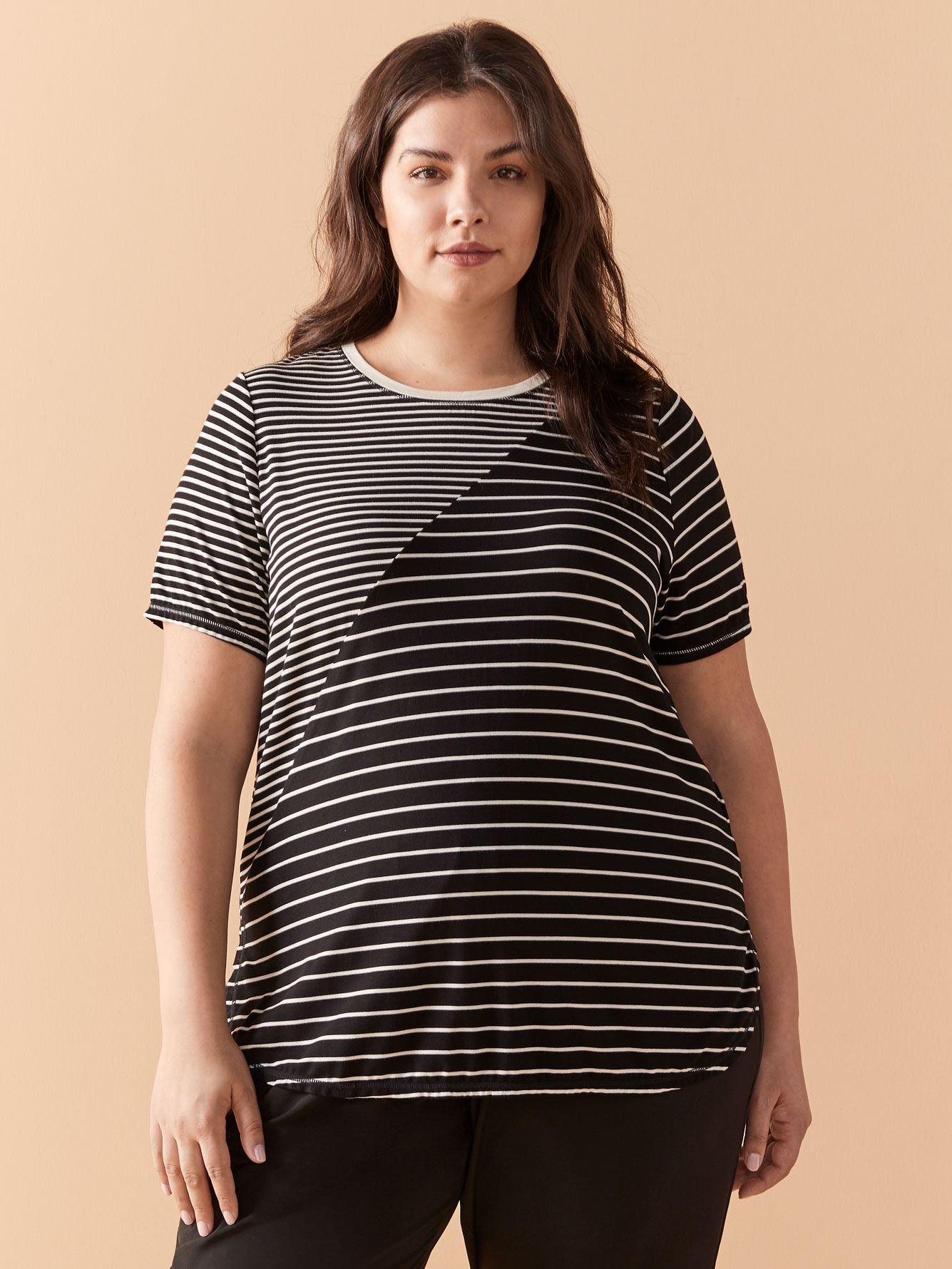 Yarn Dye Striped T-Shirt - ActiveZone