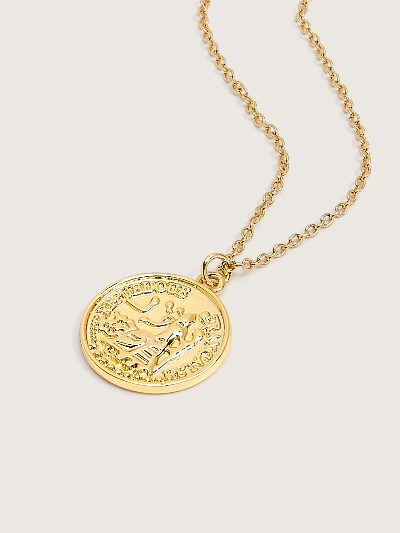 Layering Necklace with Coin Pendant - Addition Elle