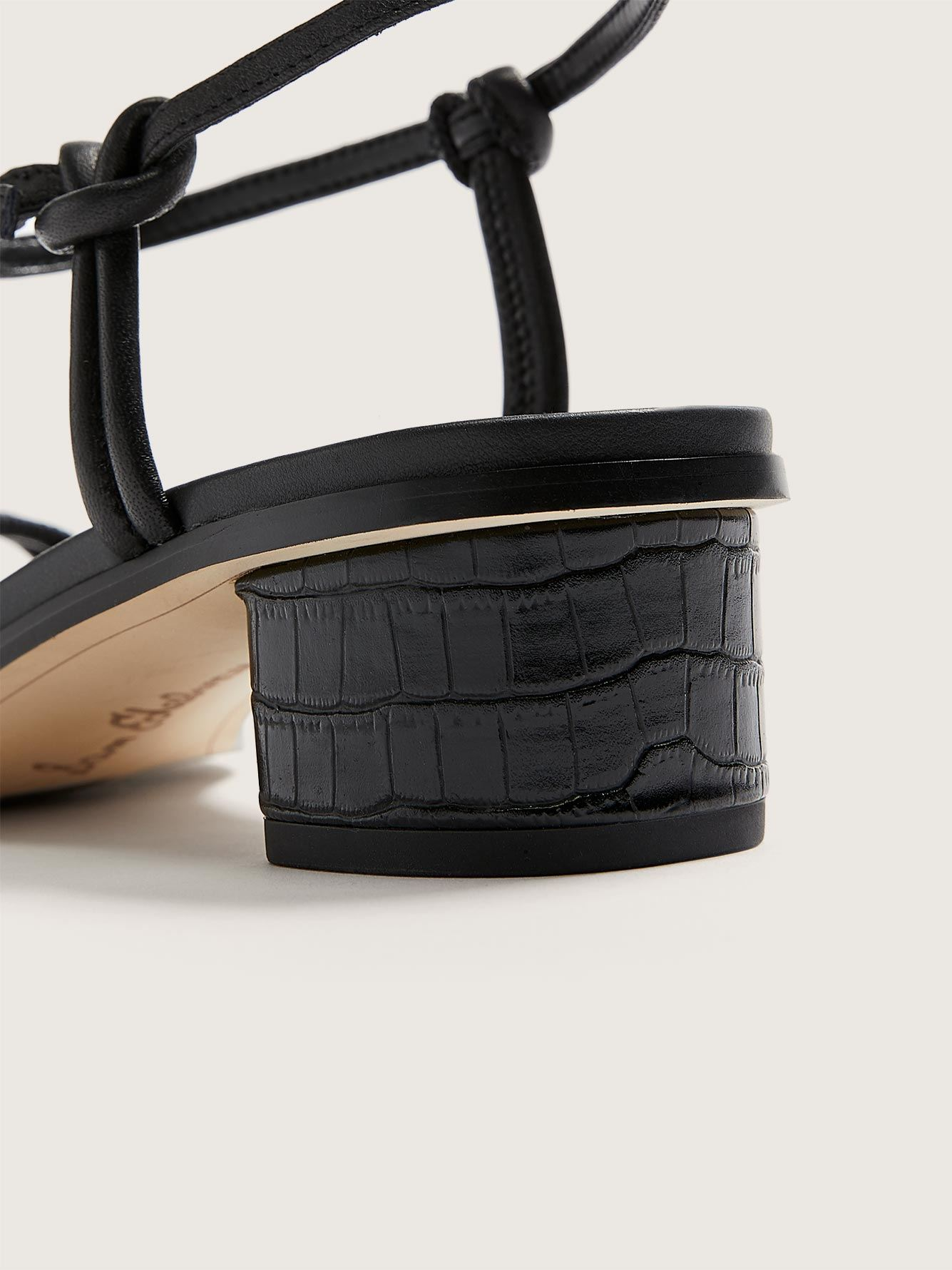 Sandale à talon en cuir Isle, pied large - Sam Edelman