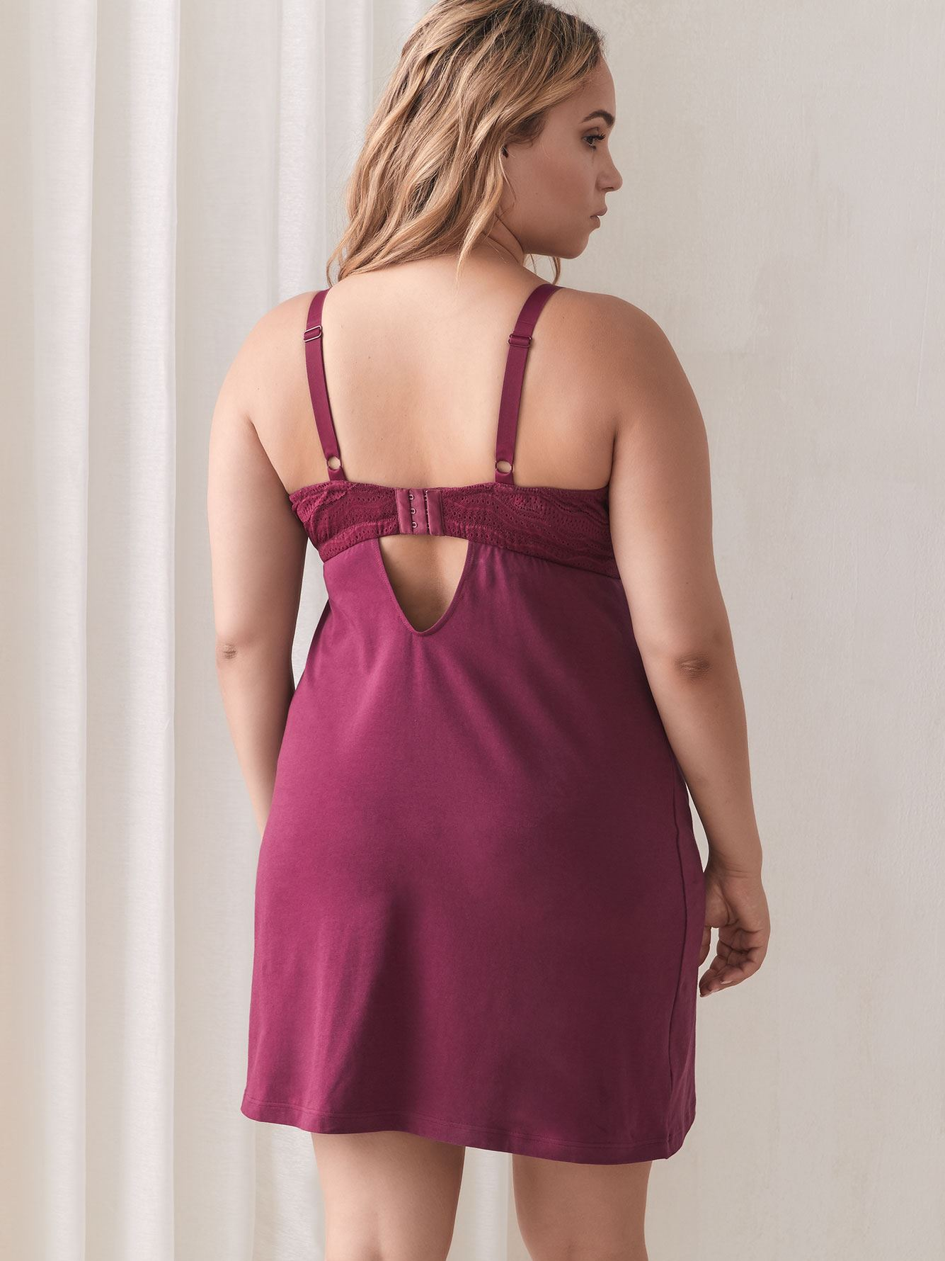 Adjustable Dolce Babydoll with Lace Detail - Cosabella