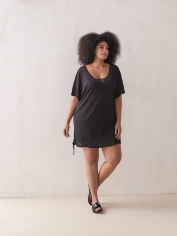 Solid Popover Cover Up Tunic - Cover Me