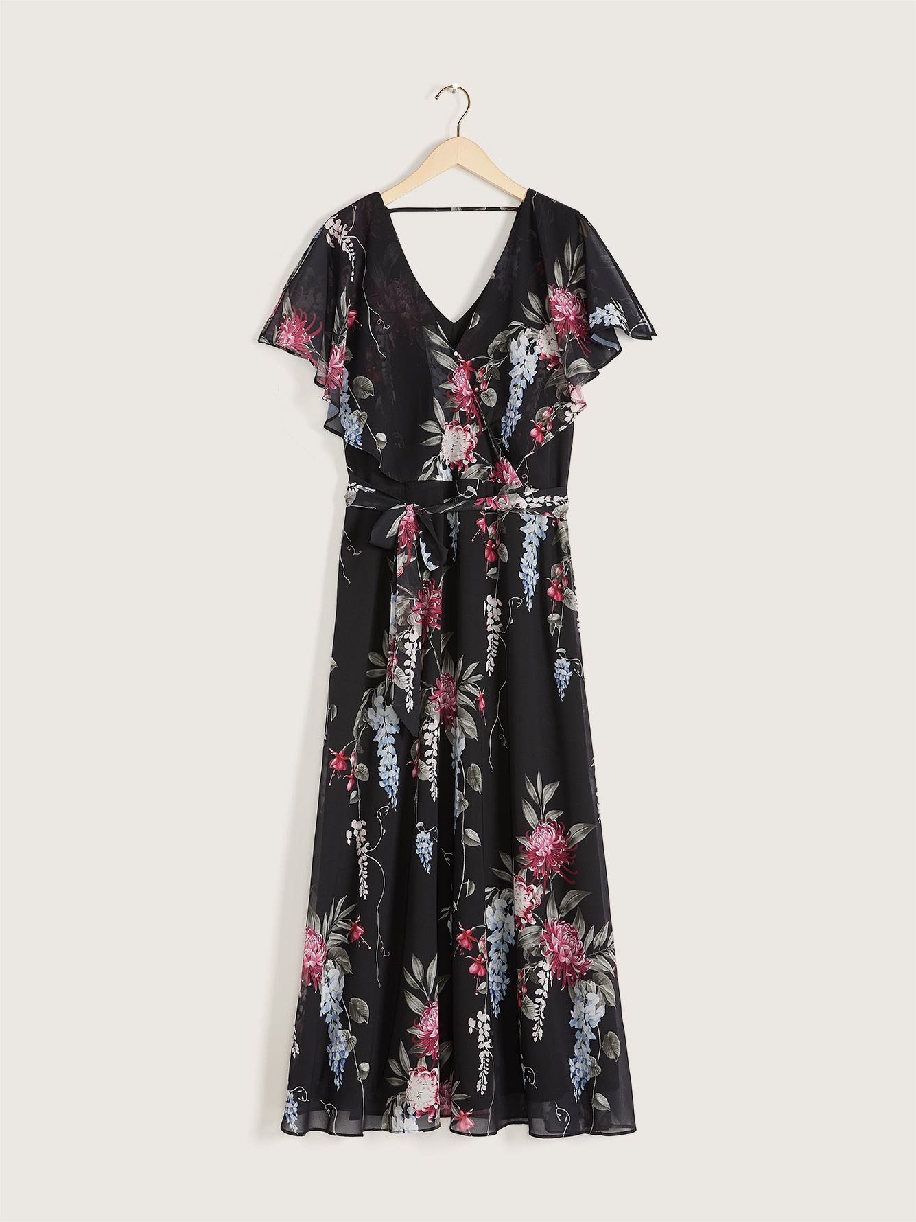 Black Floral Maxi Dress - City Chic