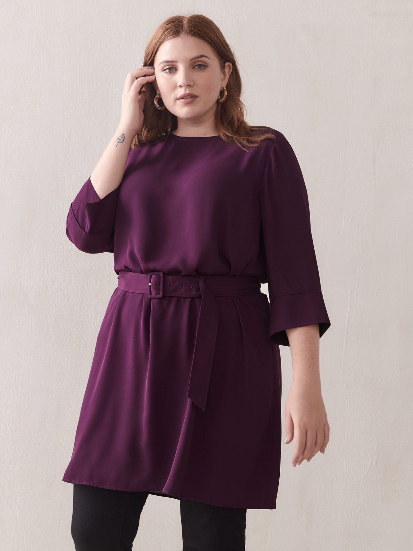 Belted Tunic Dress - Addition Elle