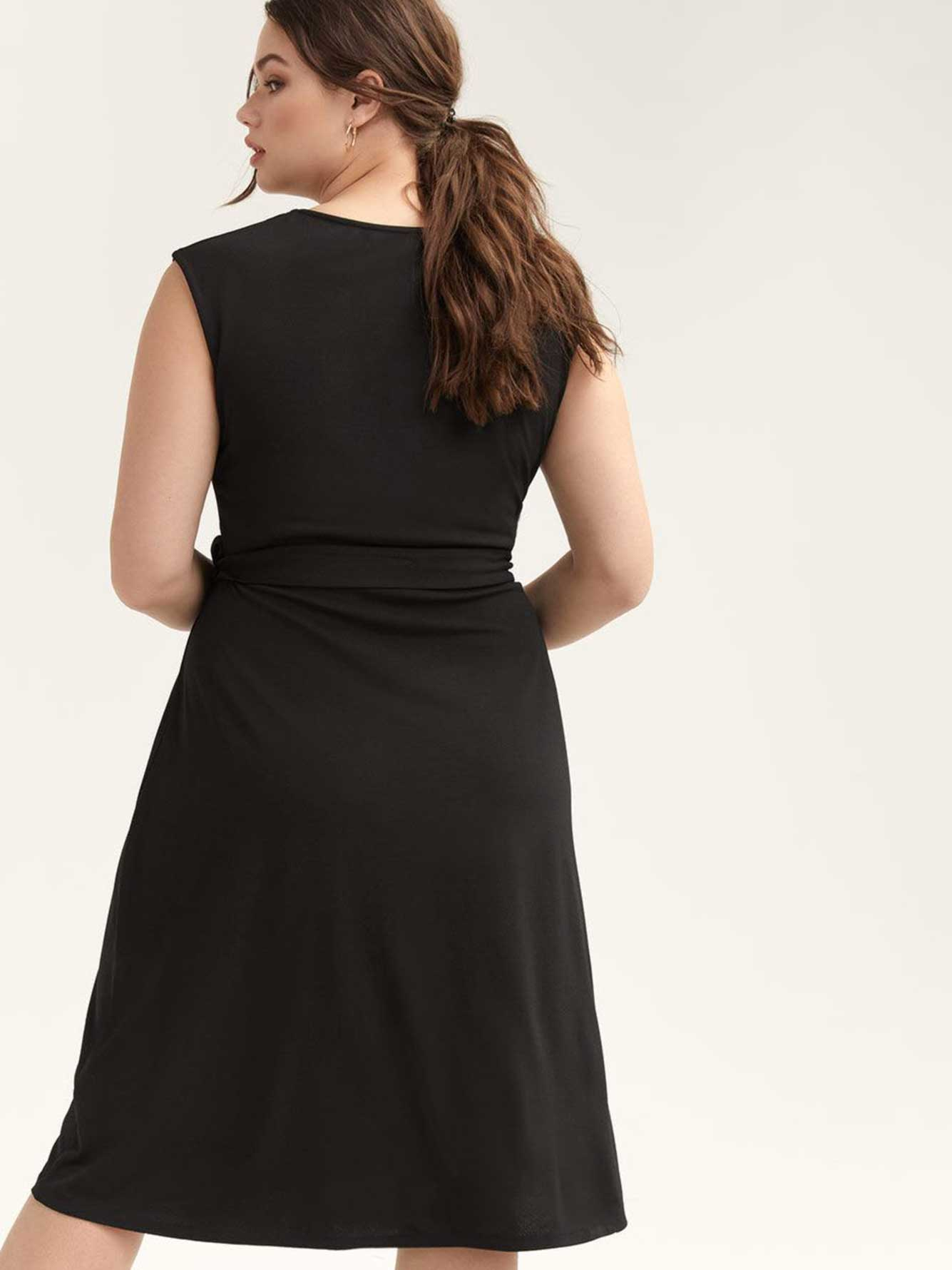 Fit & Flare Dress with Wrap Front