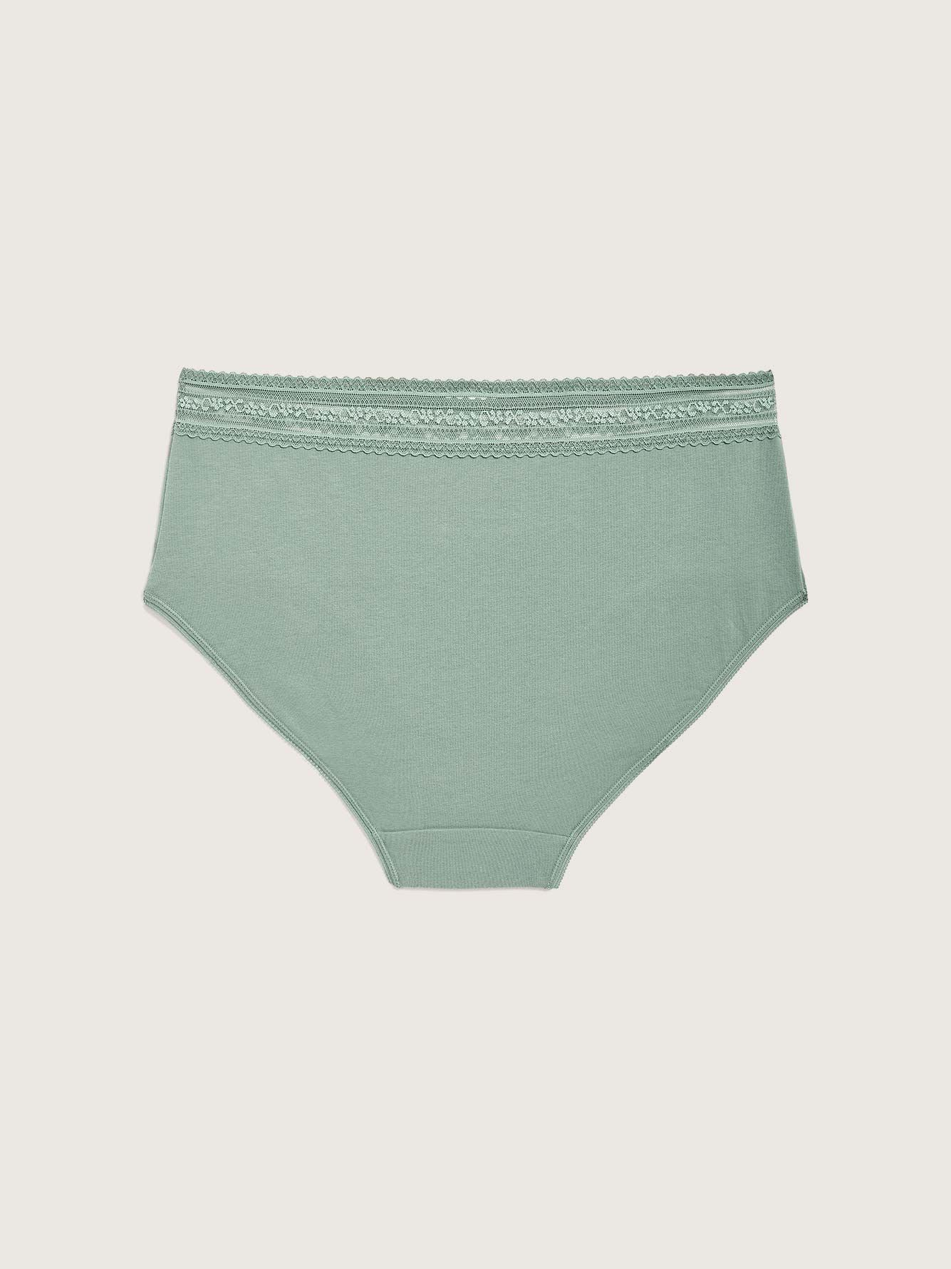 Solid Cotton Brief Panty - Addition Elle