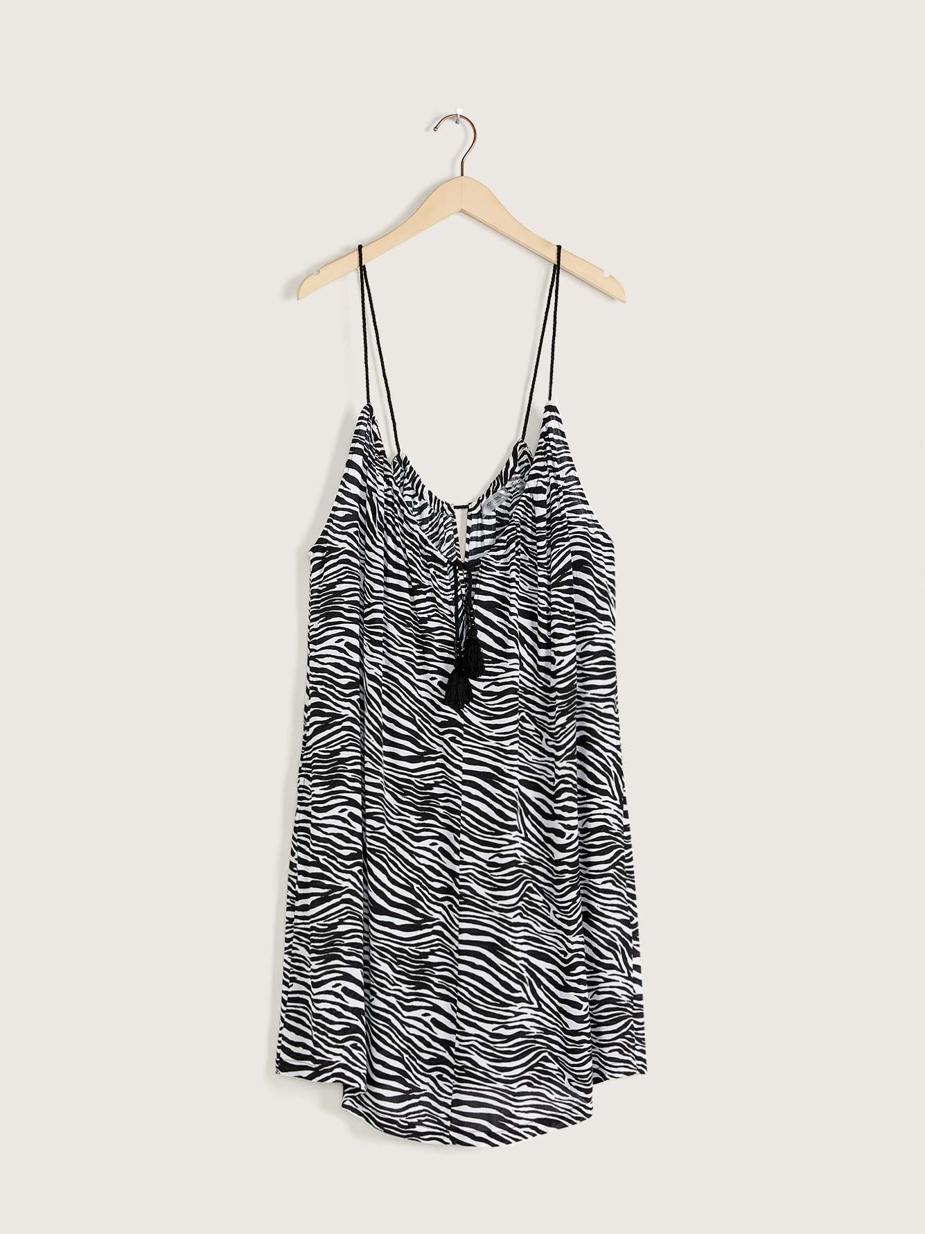 Zebra Print Cover-Up Dress - Addition Elle