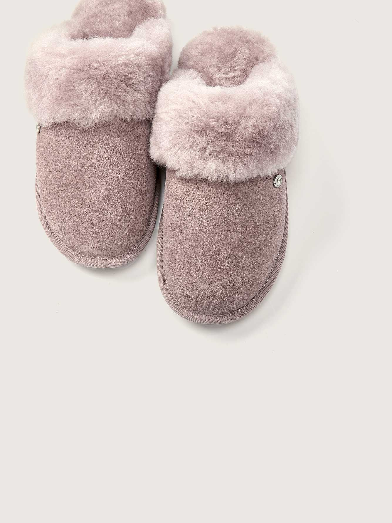 Duchess Suede Slippers - Just Sheepskin