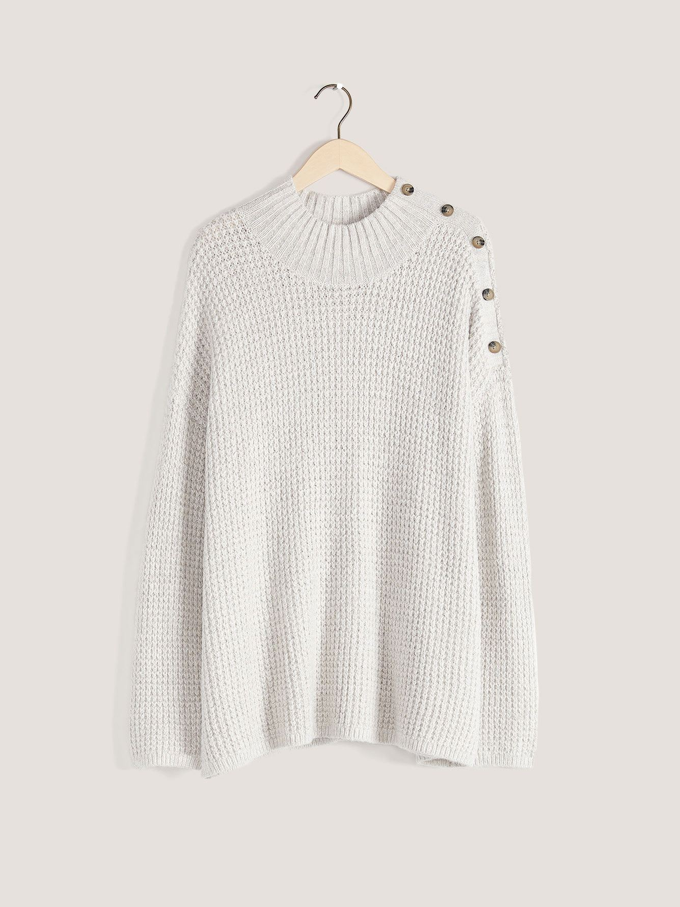 Marled Mock-Neck Sweater - In Every Story