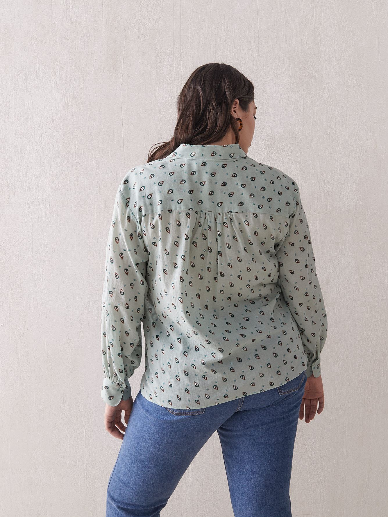 Georgette Blouse in Soft Mint - Addition Elle