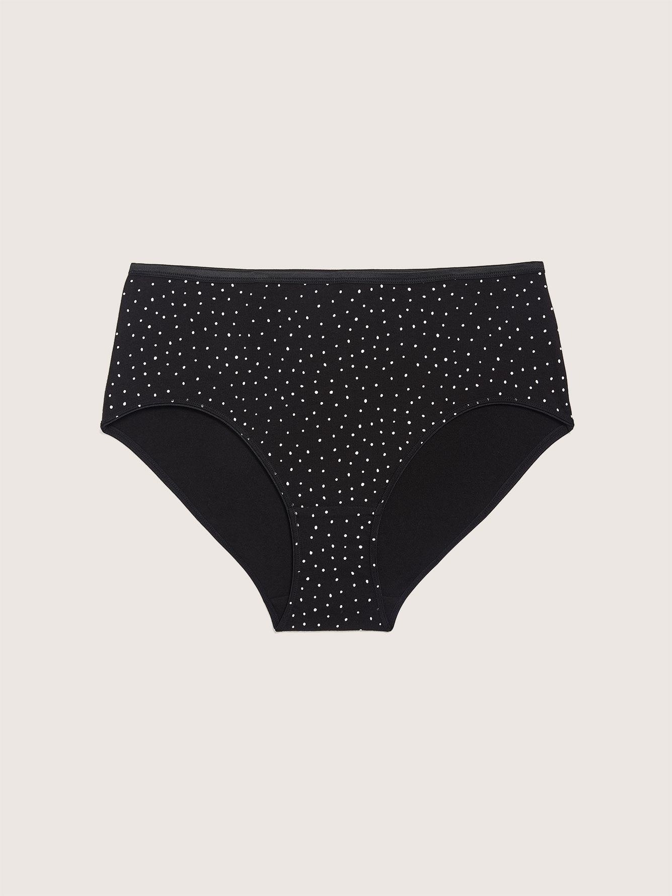 Polka Dot Printed Brief Panty - Addition Elle