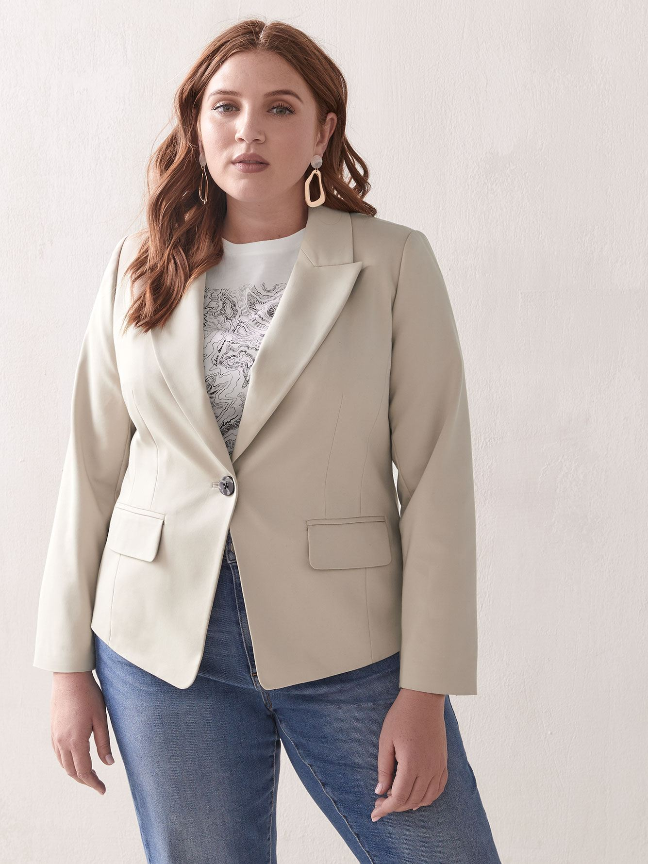 Single-Breasted Blazer - Addition Elle