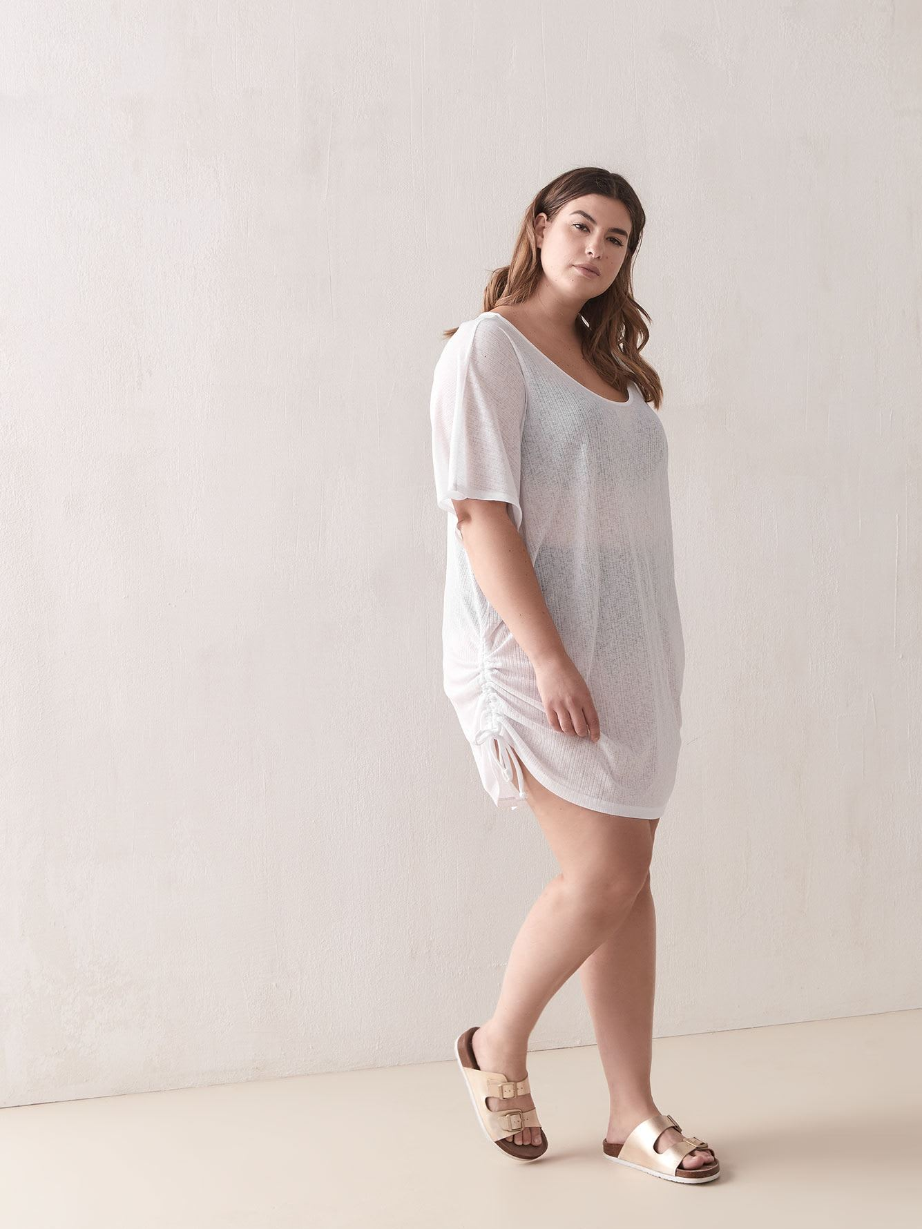 Solid Popover Cover-Up Tunic - Cover Me