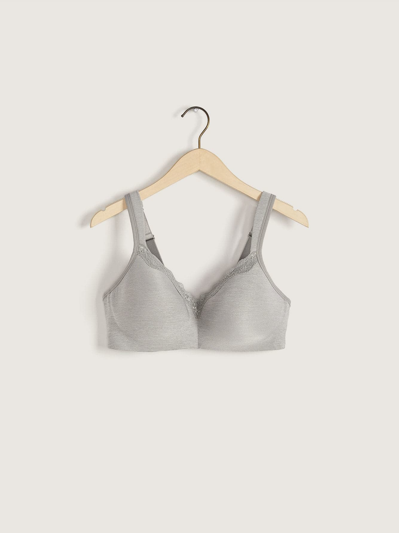 Padded Wirefree Bra with Lace