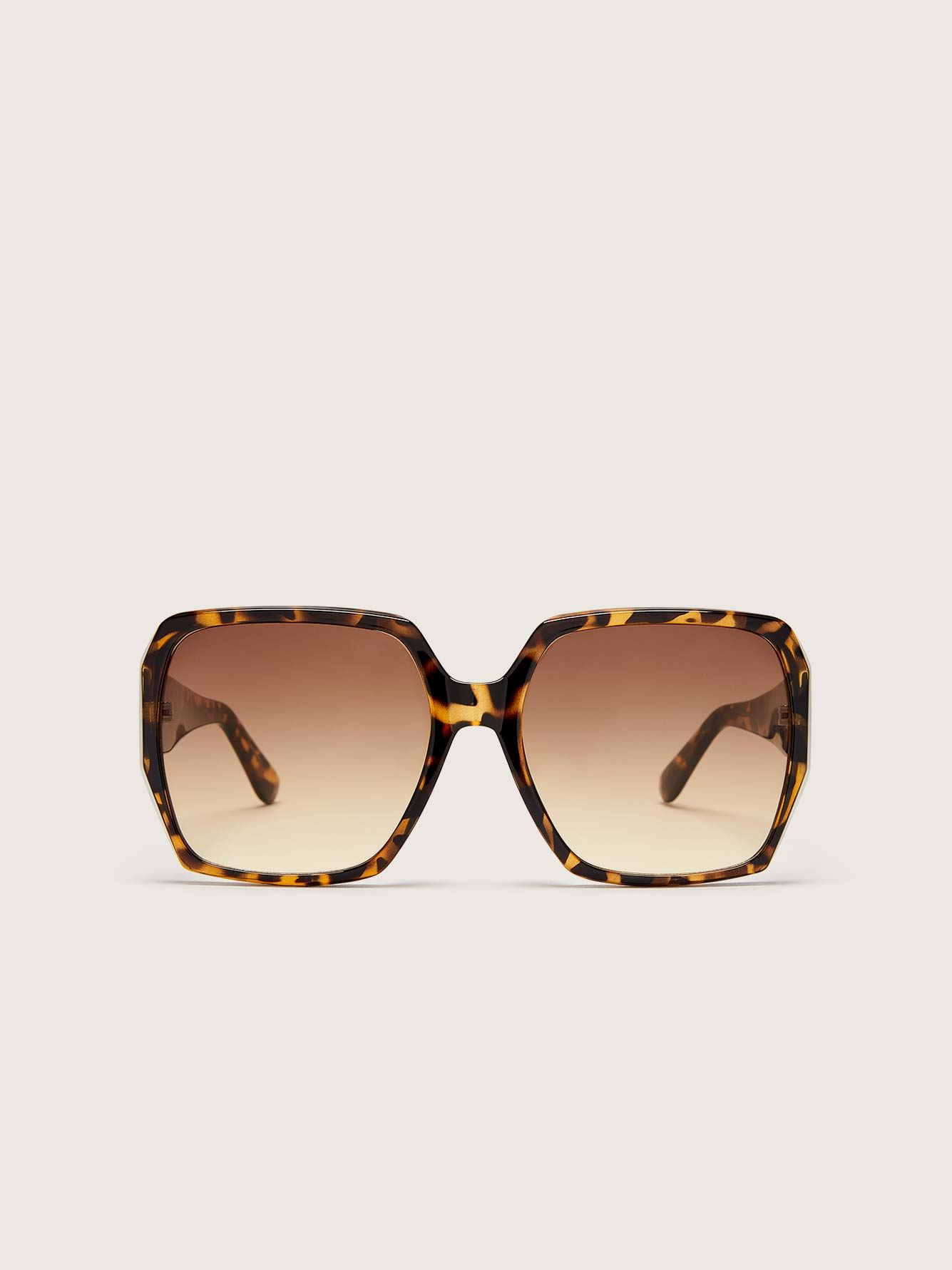 Oversized Tortoise Shell Sunglasses - Addition Elle