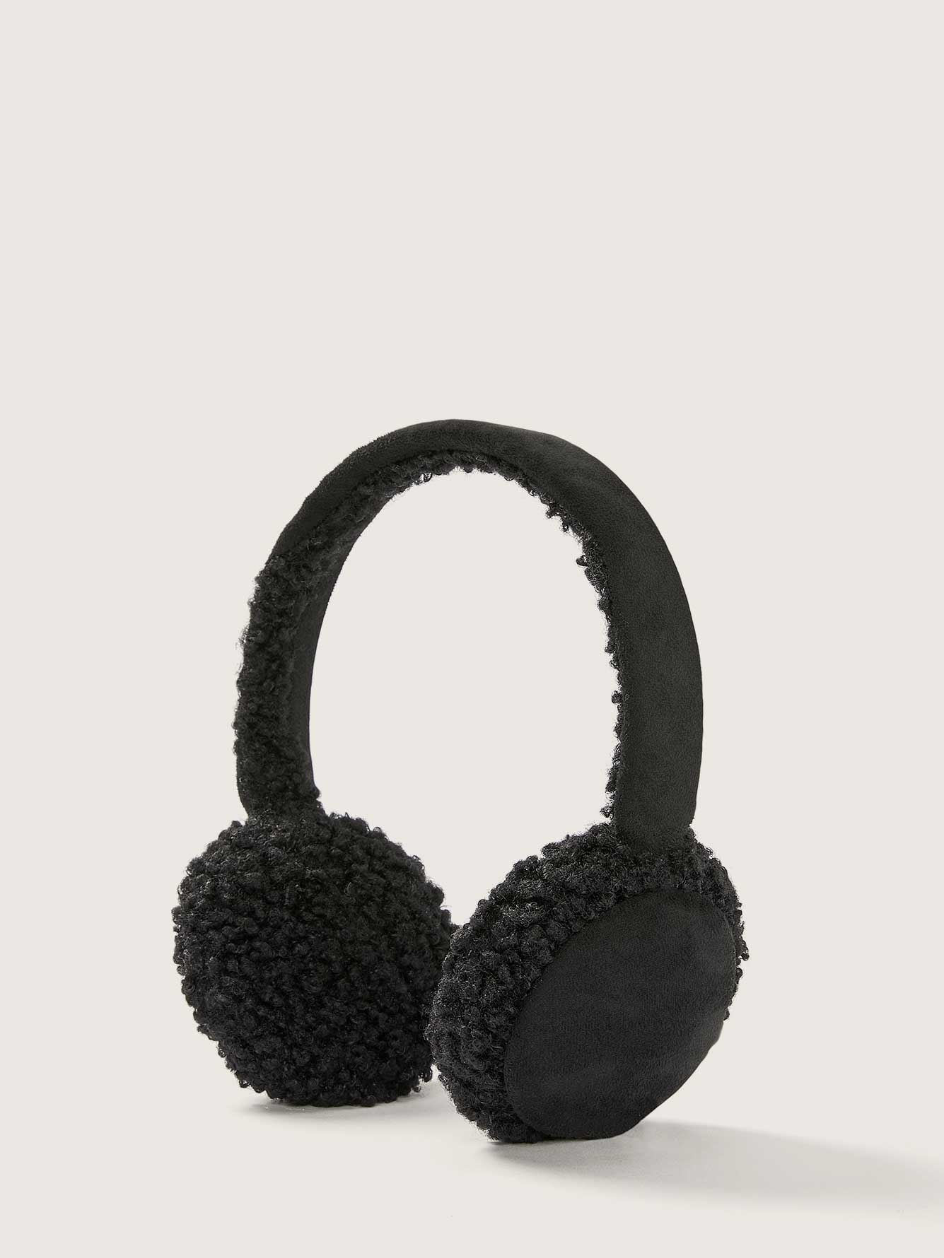 Sherpa and Faux Suede Ear Muffs - Addition Elle
