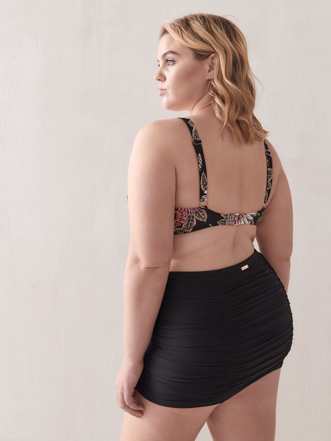 Costa High Waist Swim Skirt - Raisins Curve