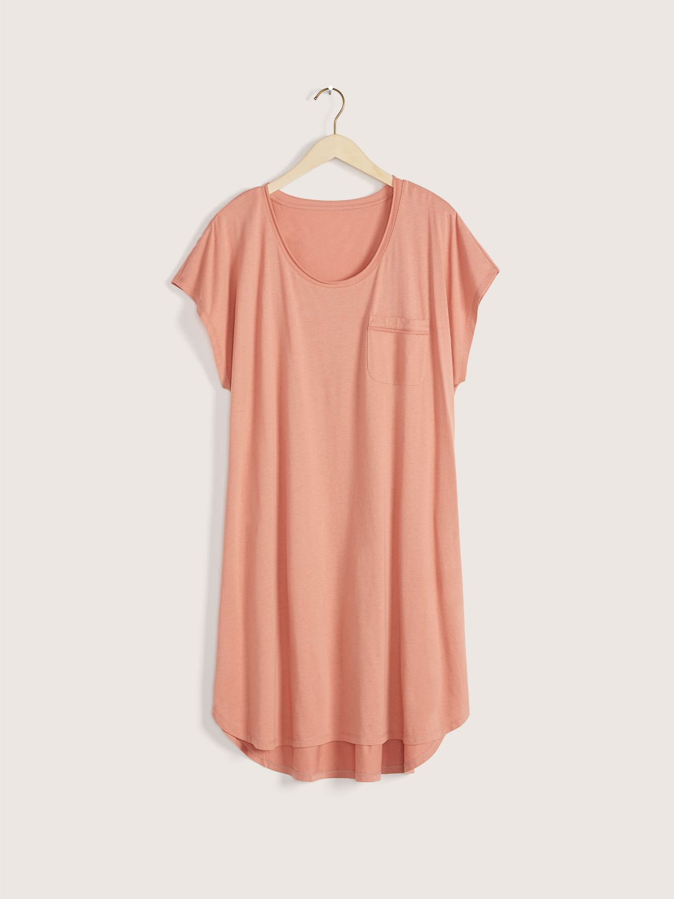 Solid Short Sleeve Sleepshirt - Addition Elle