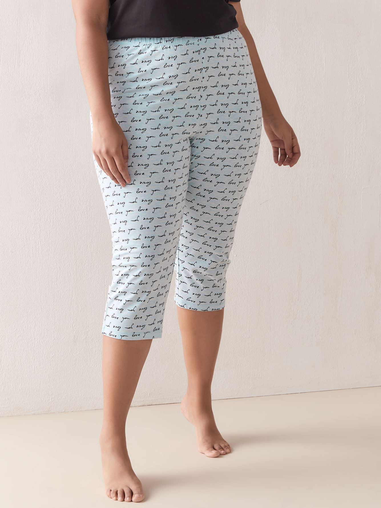 Printed Capri Pyjama Pants - In Every Story