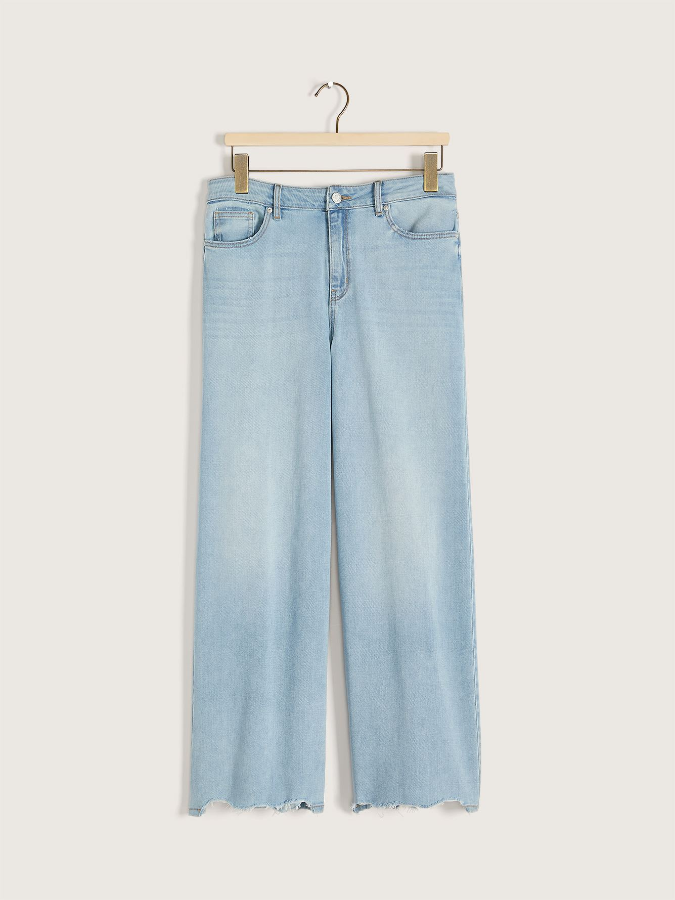 High Rise Wide-Leg Ankle Denim Pant - Addition Elle