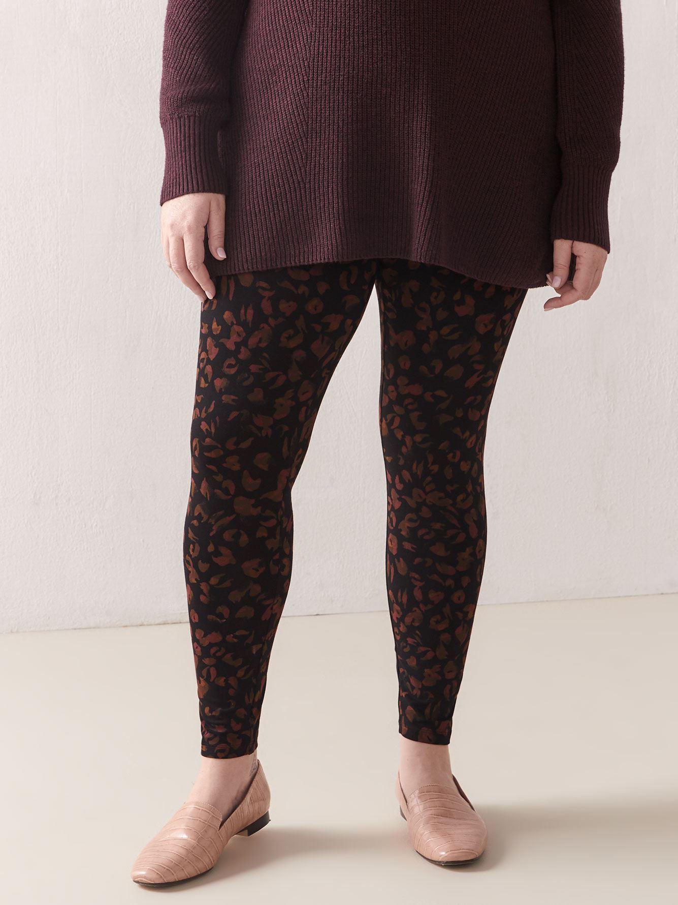 Wide Waistband Printed Legging - Addition Elle