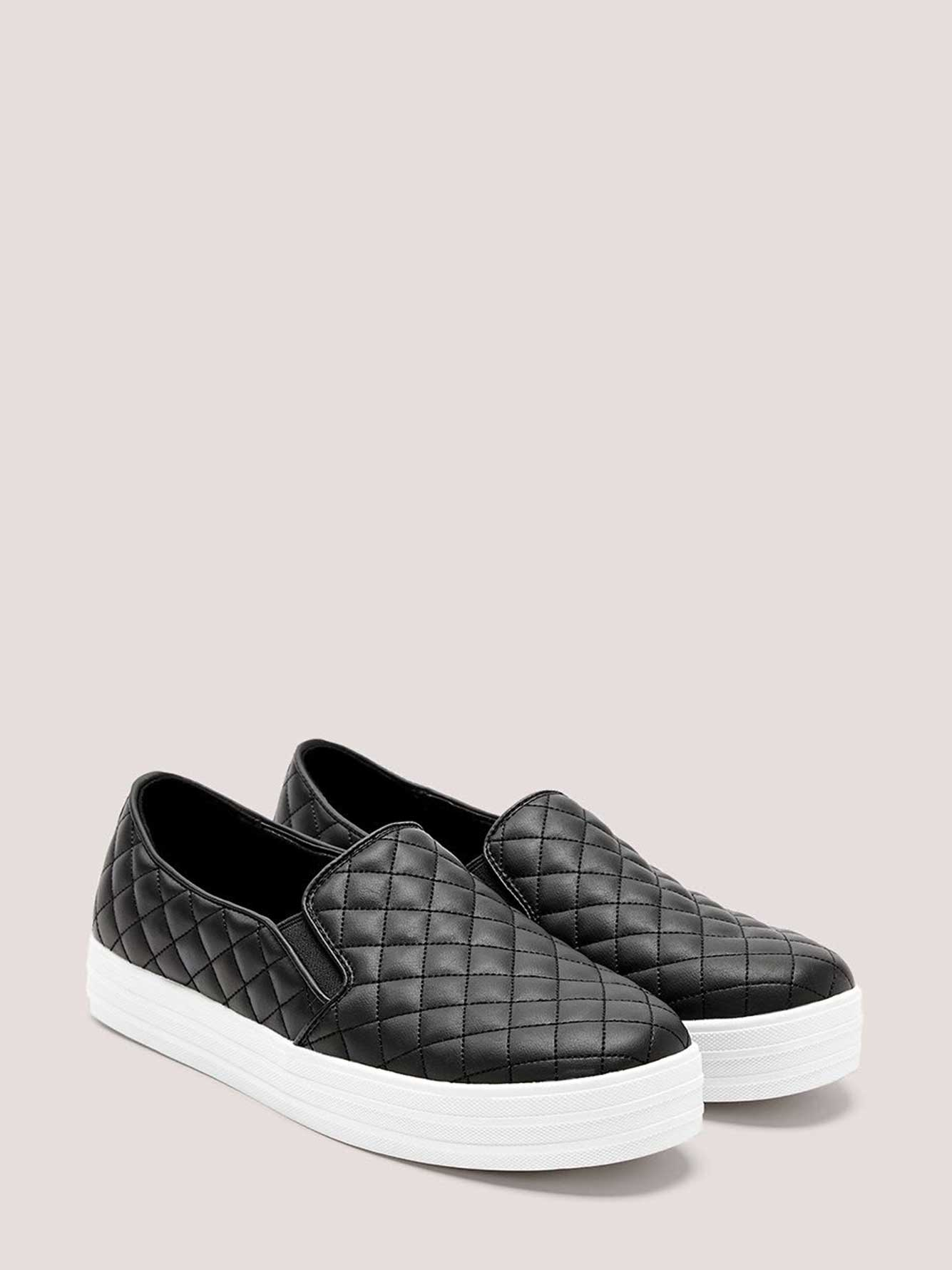 Wide-Width Quilted Faux-Leather Loafer - Skechers