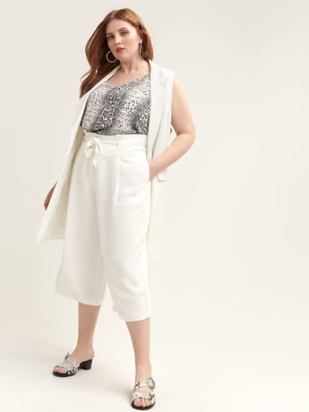 Gaucho Pant with Self-Belt