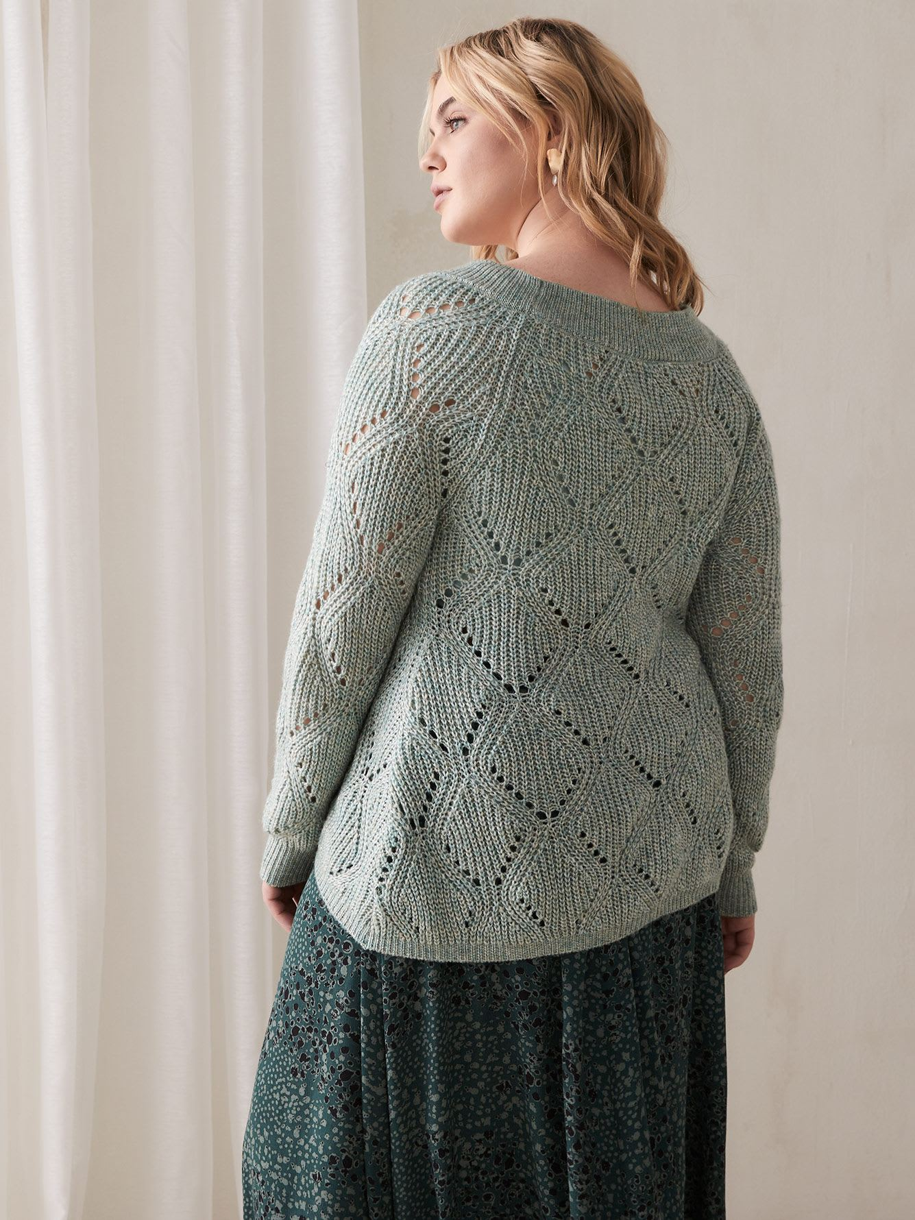 Tricot cocon en pointelle - Addition Elle