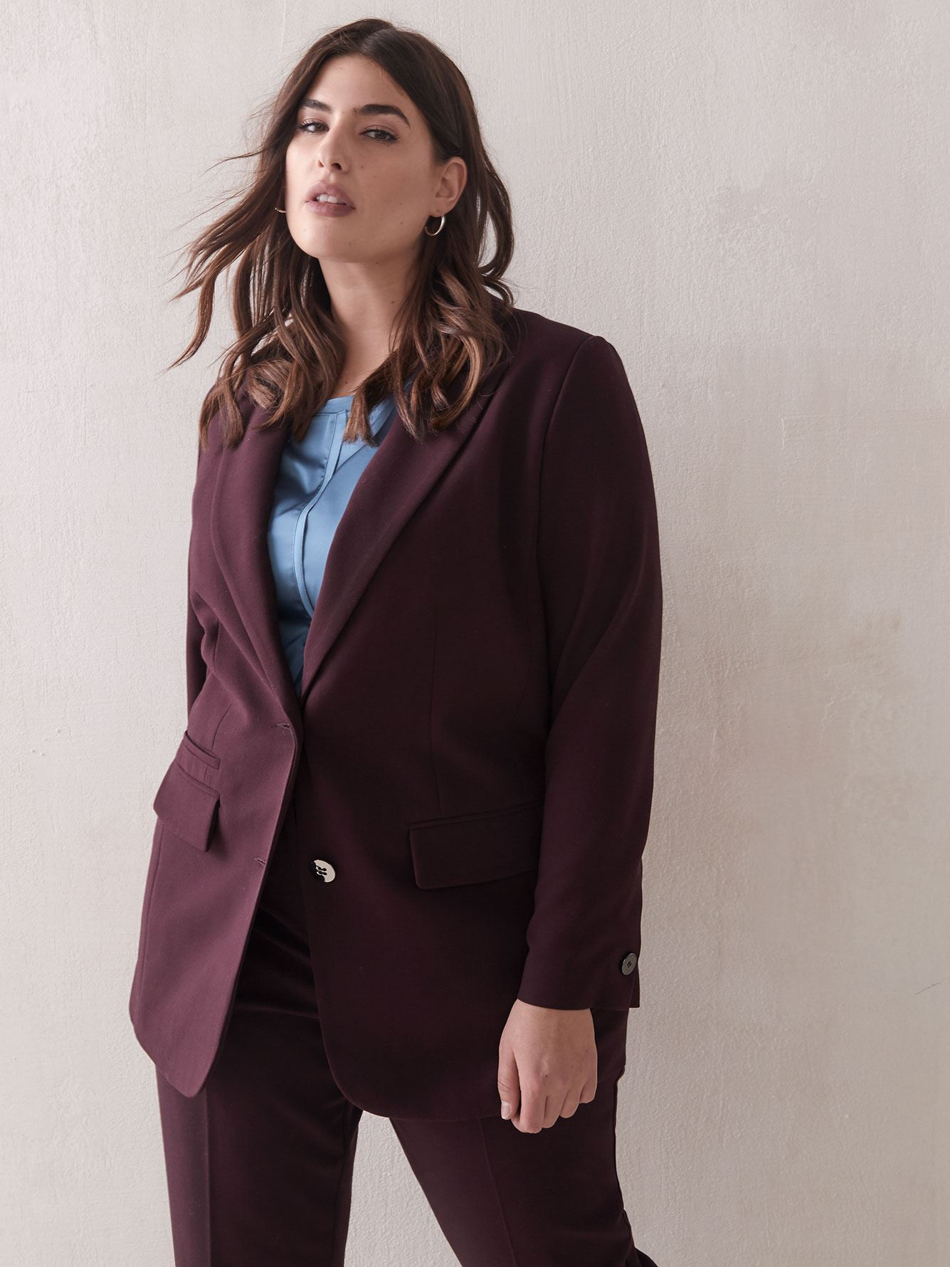 Blazer long à boutonnage simple - Addition Elle