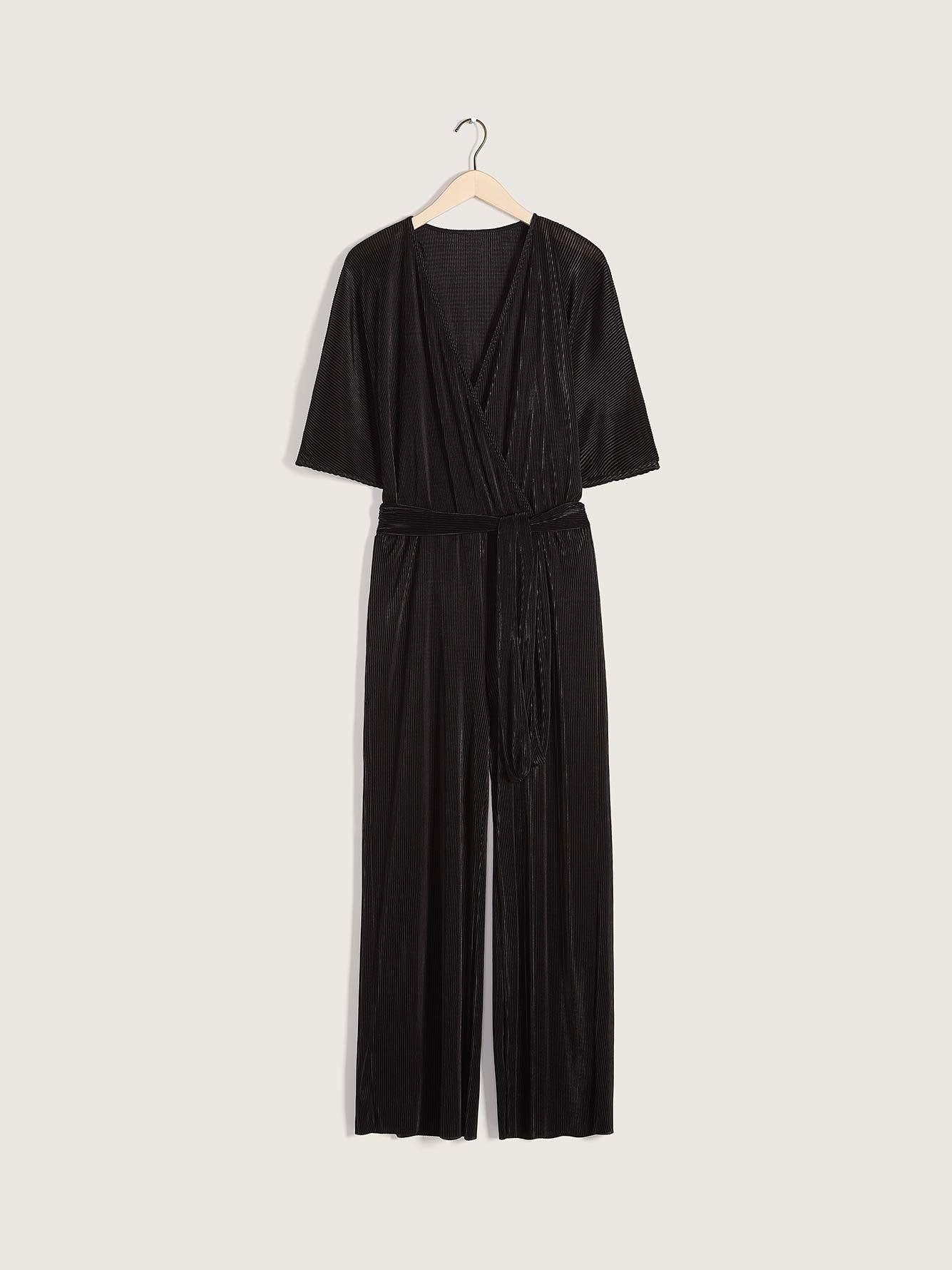 Wide-Leg Maxi Belted Jumpsuit - Addition Elle