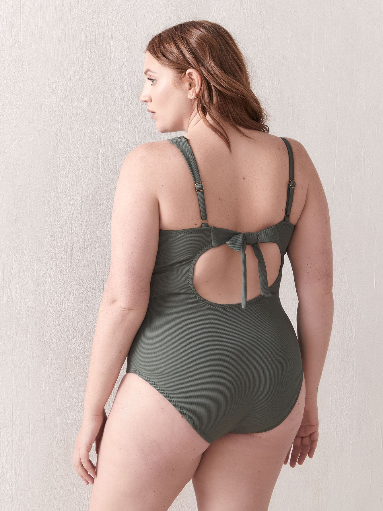 Fine Line One-Shoulder One-Piece Swimsuit - BECCA ETC