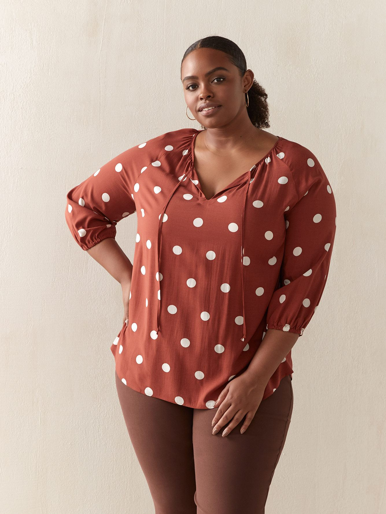 Blouse imprimée avec pampilles - In Every Story