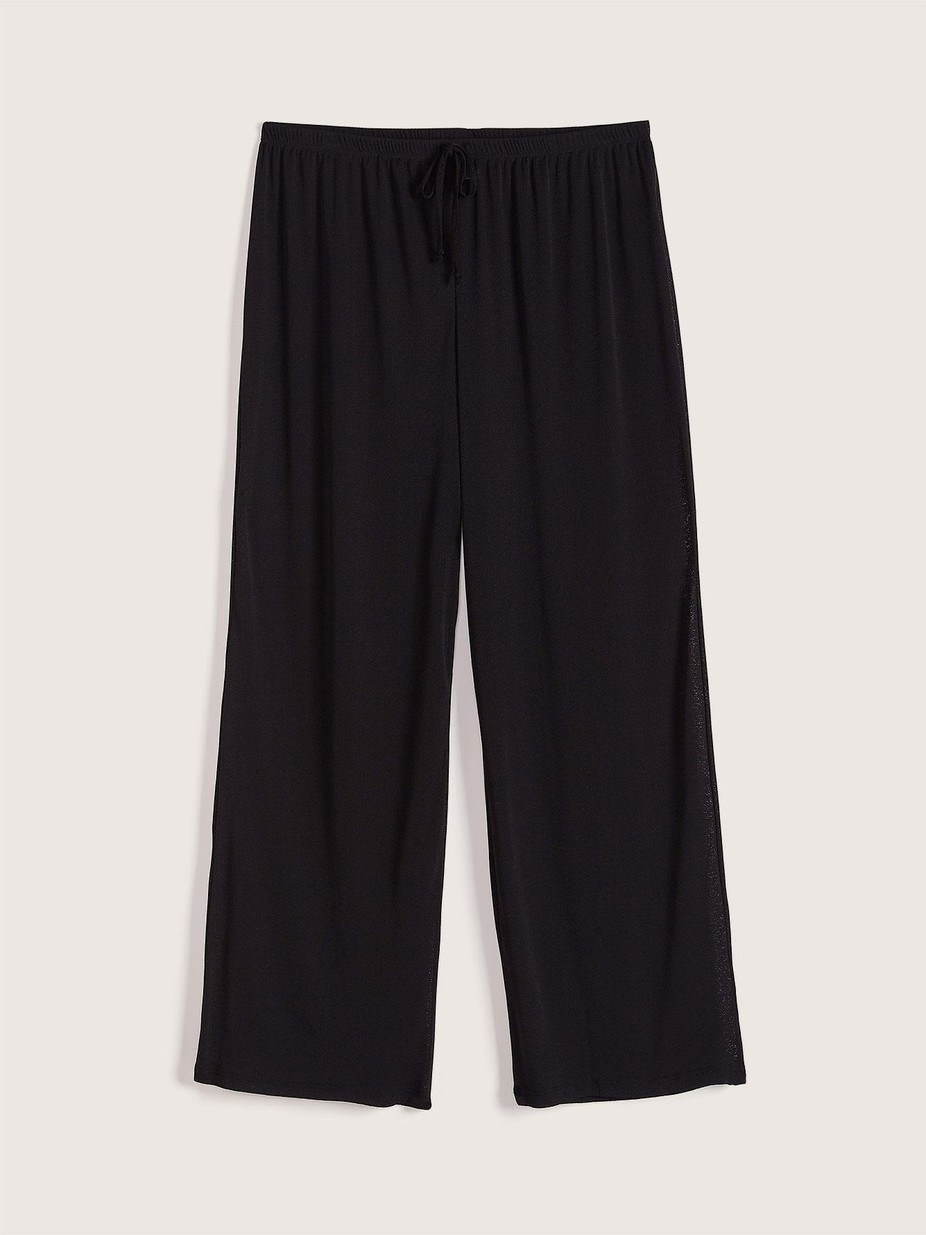 Solid Cover Up Wide Leg Pants - Cover Me