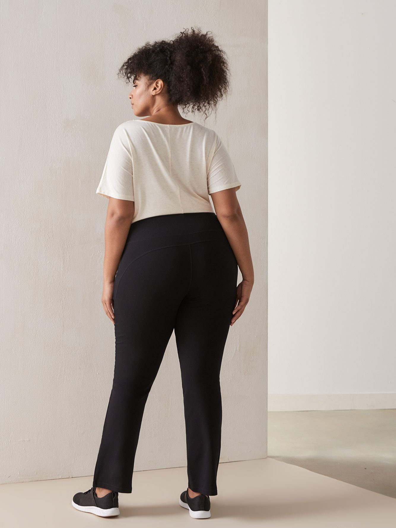 Basic Black Yoga Pant - Addition Elle