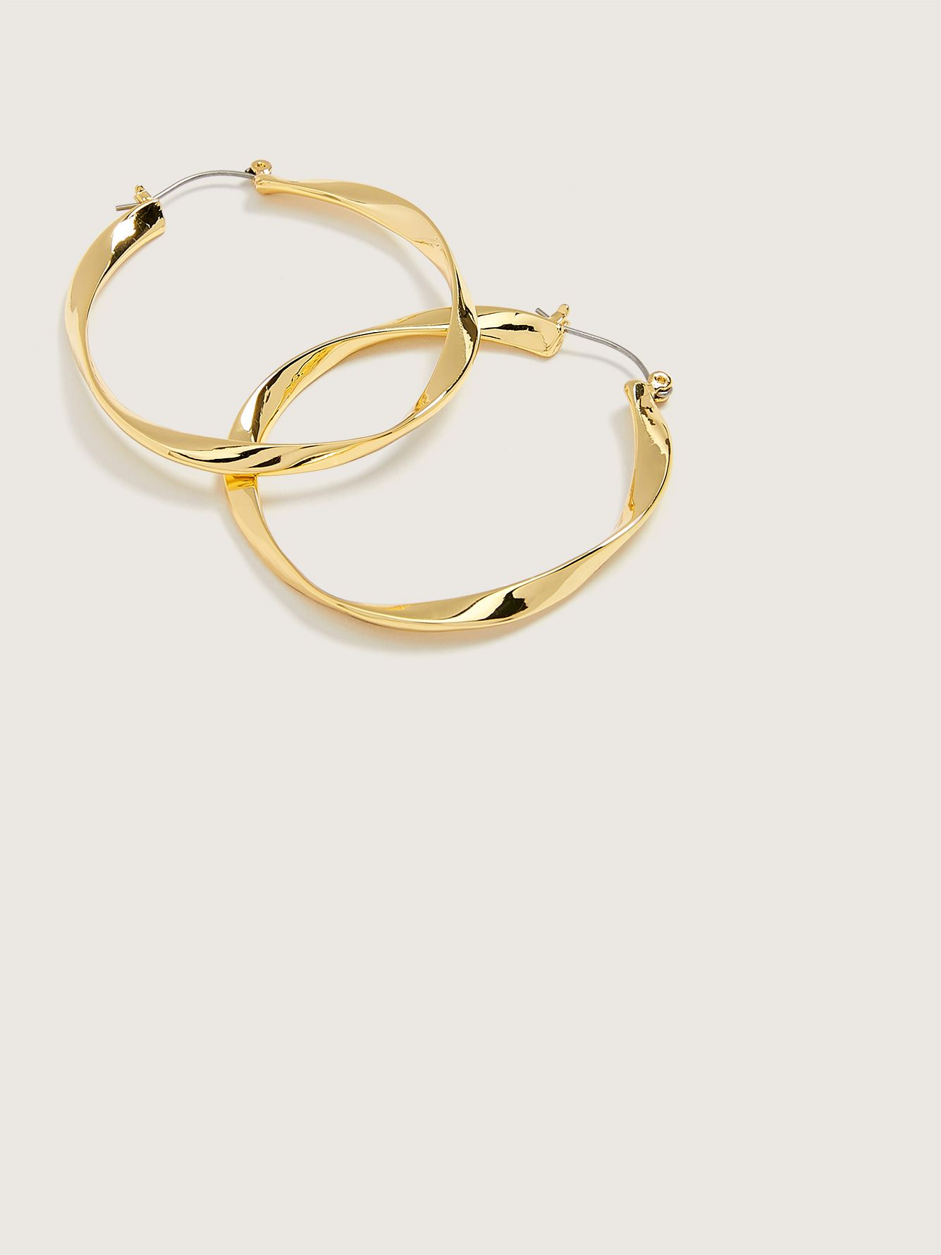 Gold Plated Hoop Earrings - Addition Elle