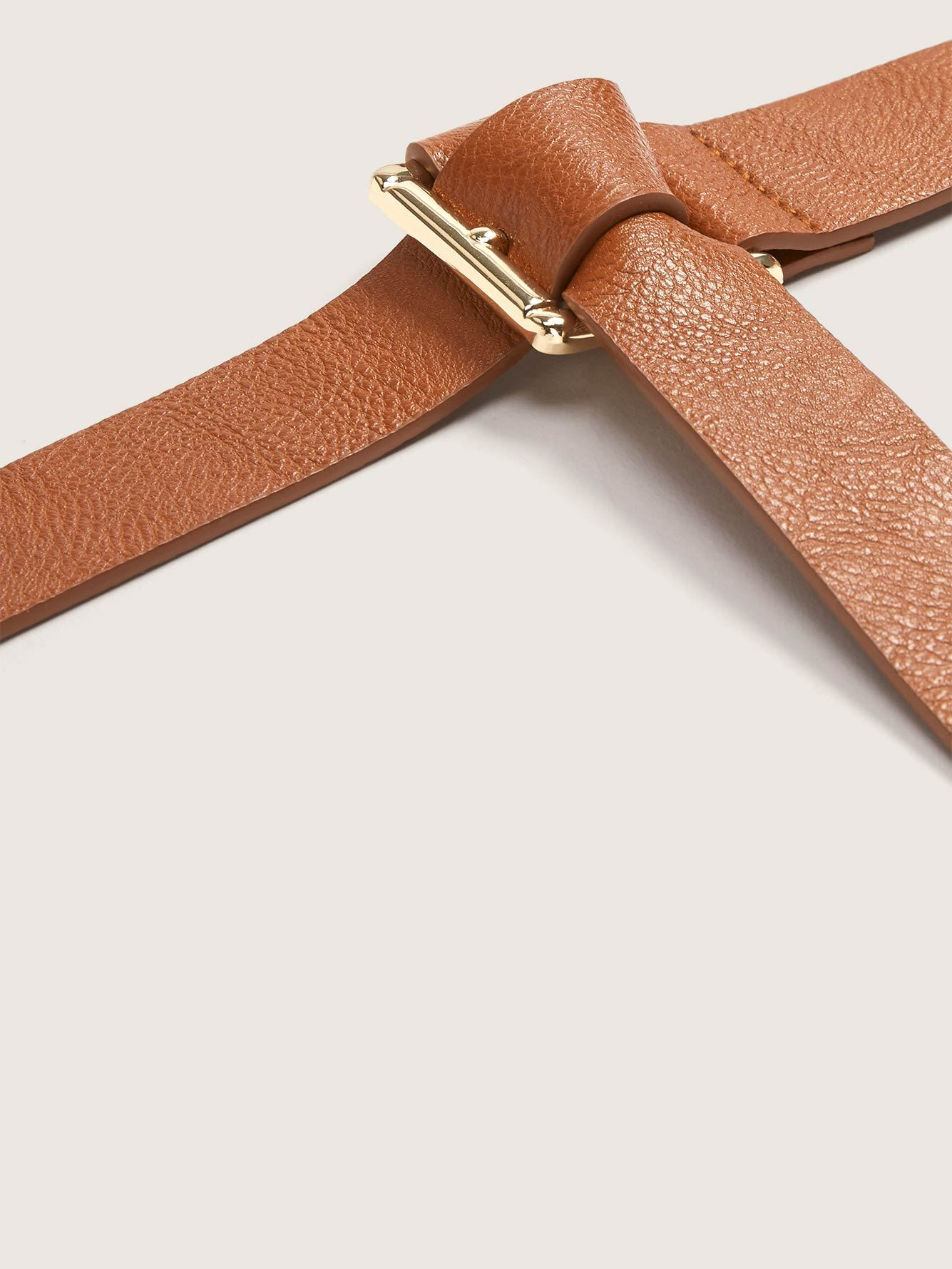 Faux Leather Wrap Belt with Buckle - Addition Elle