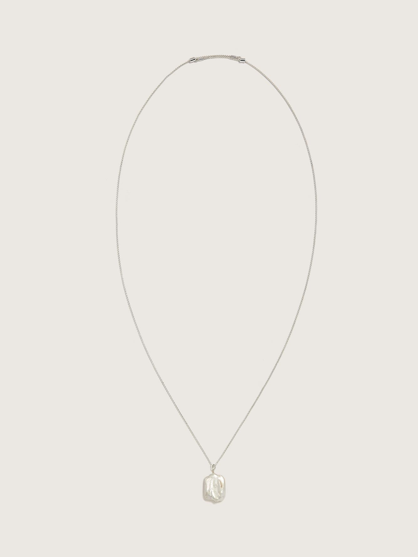 Long Adjustable Necklace with Fresh Water Pearl - Addition Elle