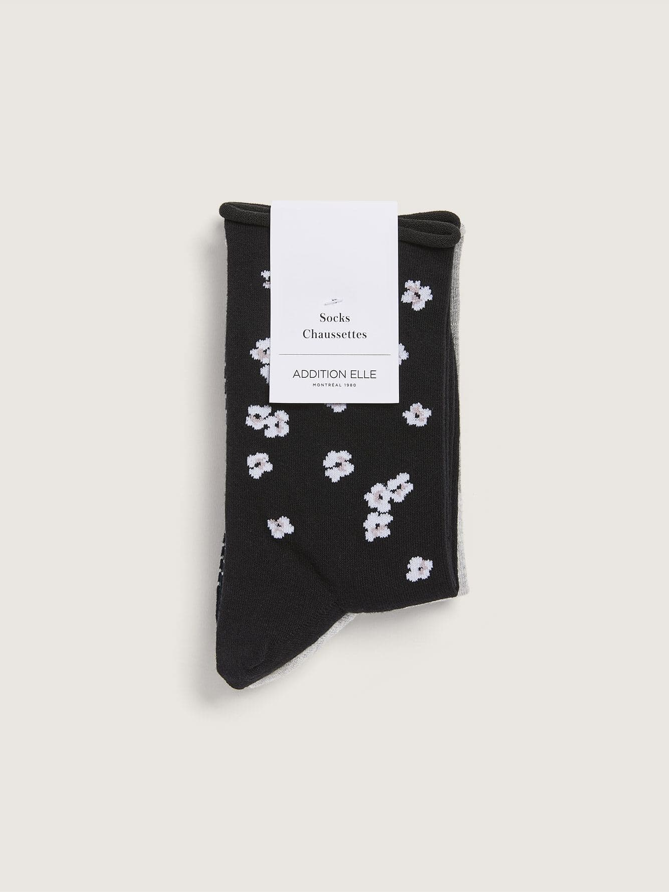 3 Pairs of Printed Cotton Socks with Rolled Edge