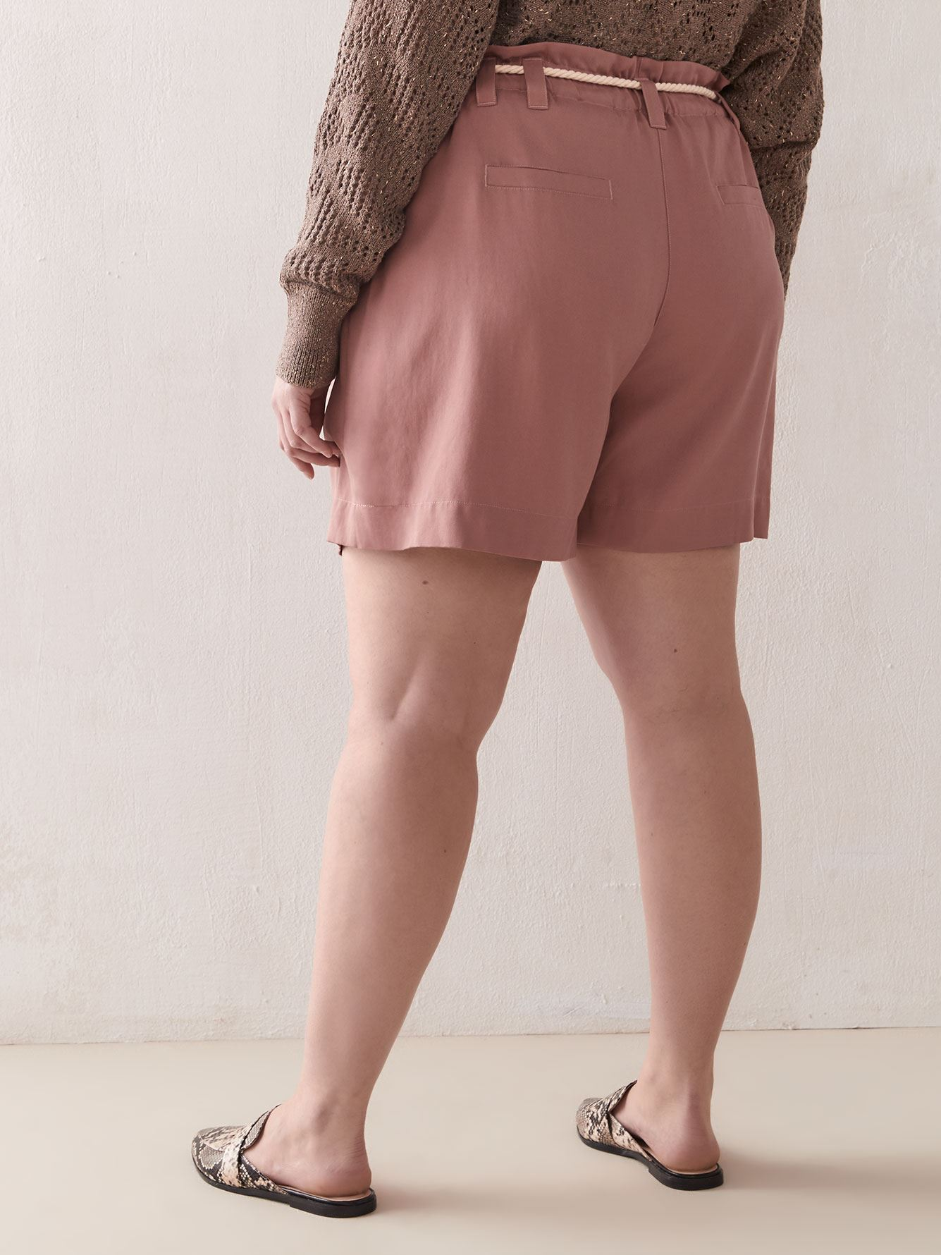 High-Waist Lyocell Shorts - Addition Elle
