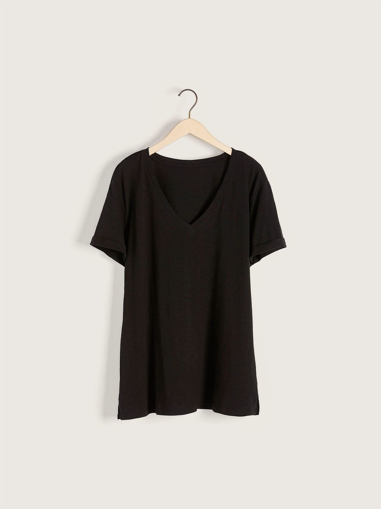 T-shirt boyfriend col V - Addition Elle