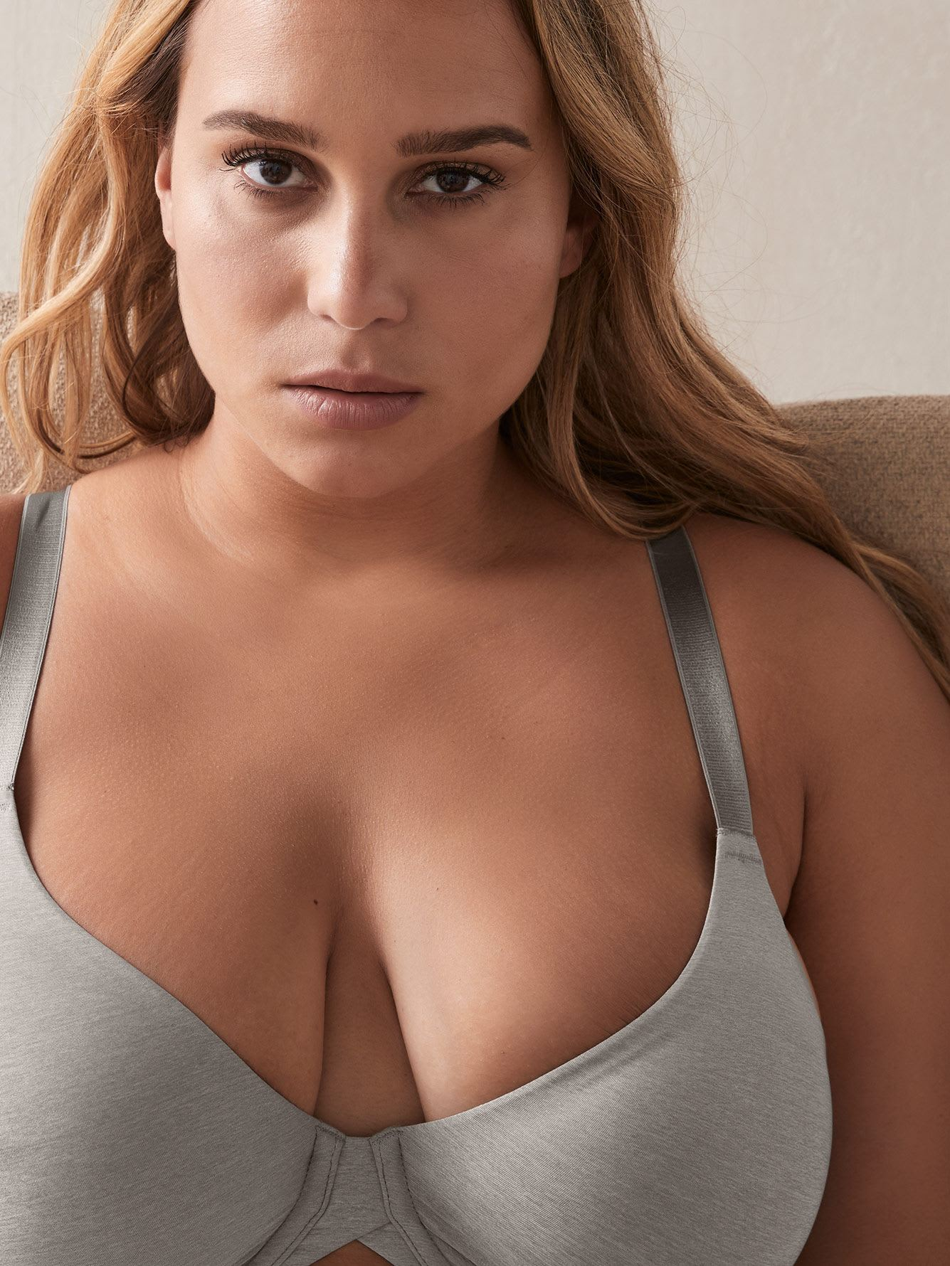 Marled Underwire Bra with Soft Cups