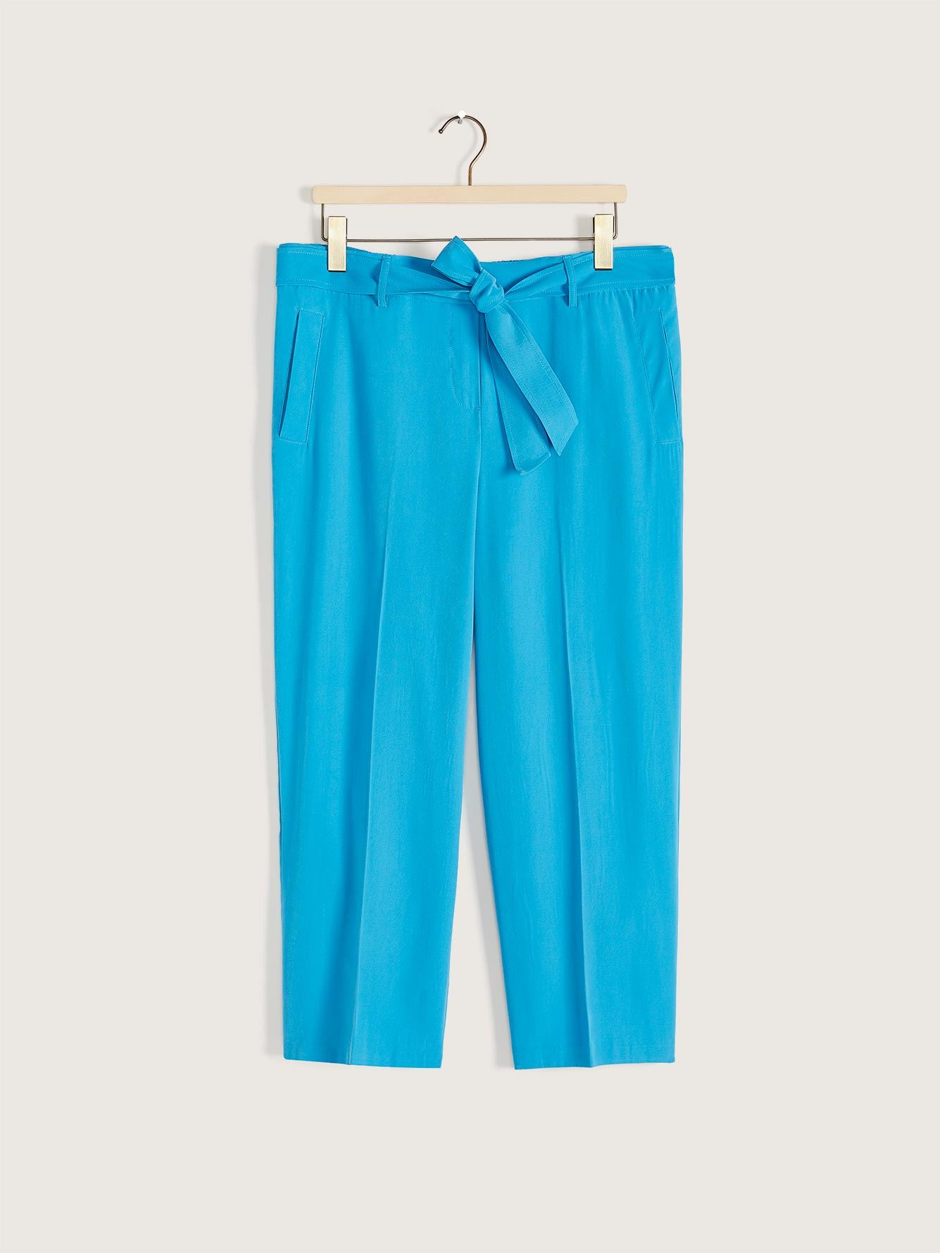 Solid High-Waist Straight Leg Pant - Addition Elle