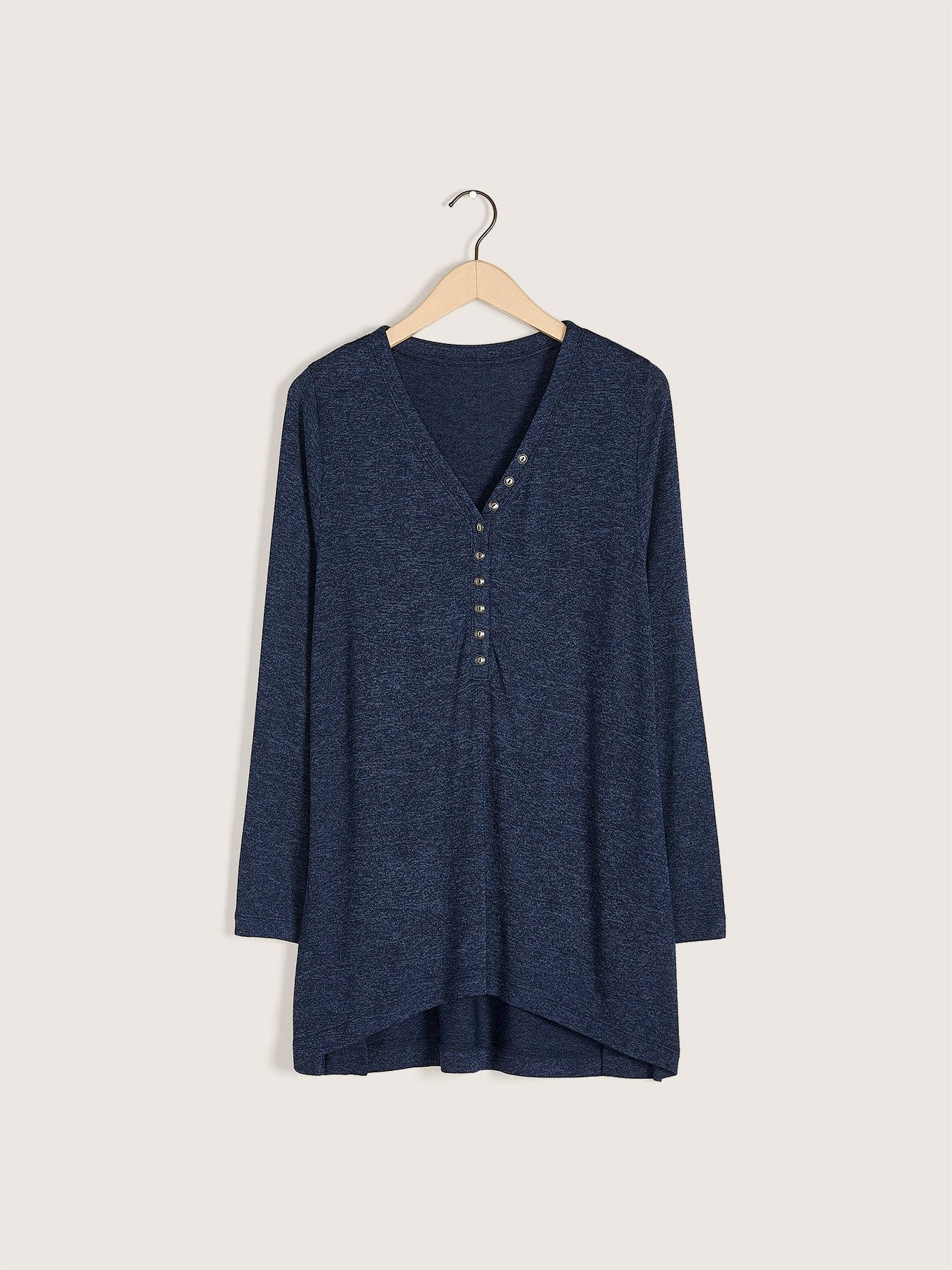 Long Sleeve Henley Top - In Every Story