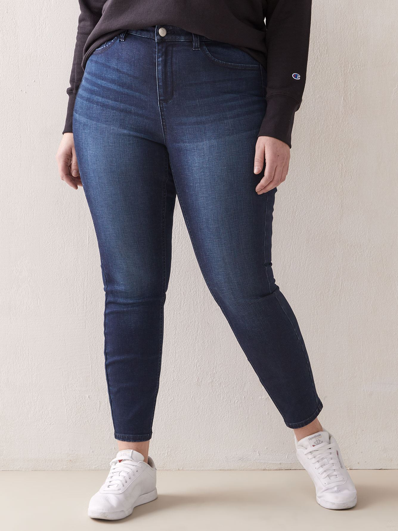 Jegging galbé skinny en denim-, Addition Elle