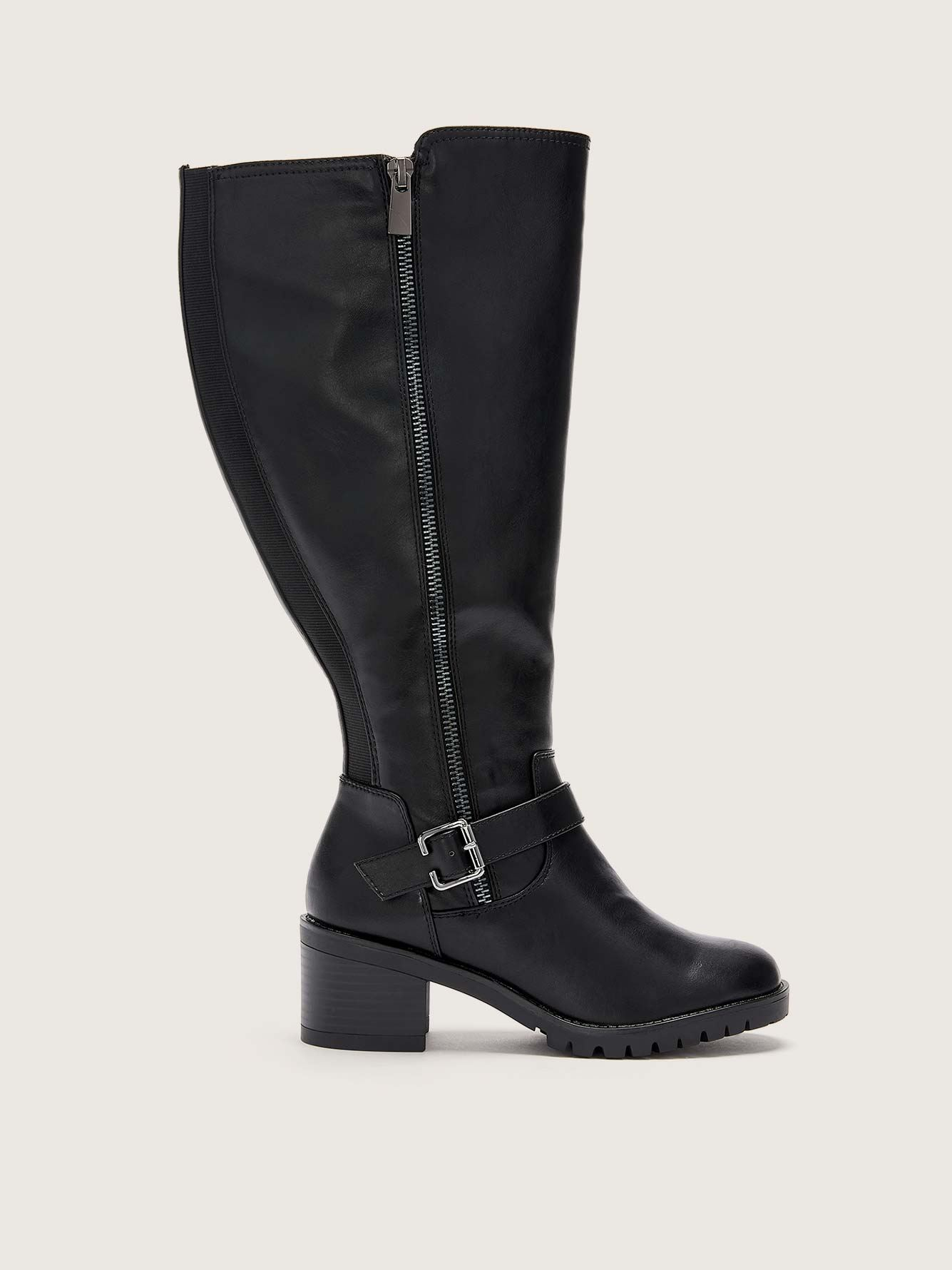 Water Resistant Tall Boot with Ankle Strap - Addition Elle
