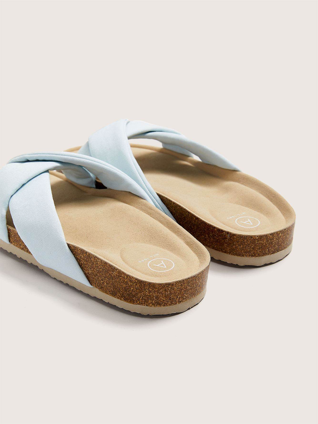 Sandale en toile de coton, pied large - Addition Elle