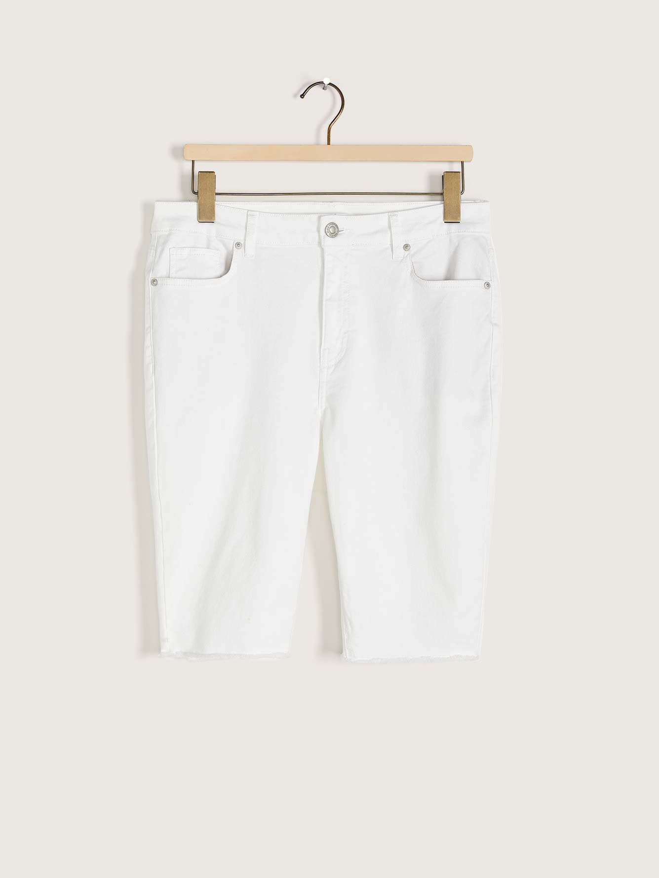 Short moto en denim blanc - Addition Elle