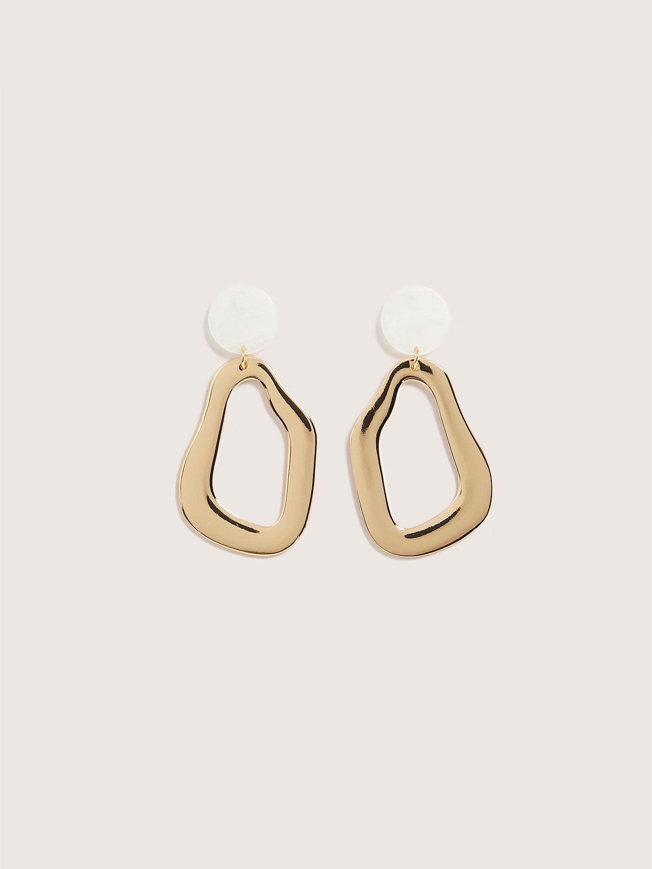 Gold Organic Drop Earrings - Addition Elle