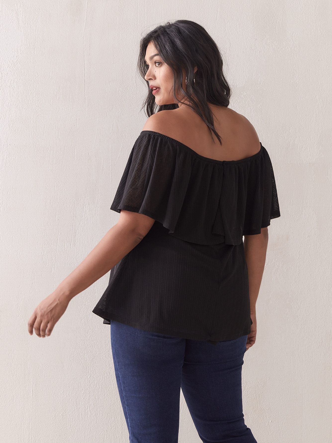 Off-The-Shoulder Ruffle Top - Addition Elle