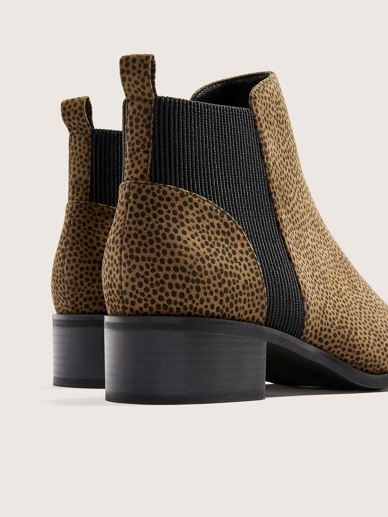 Wide Width Cheetah Chelsea Boots - Addition Elle