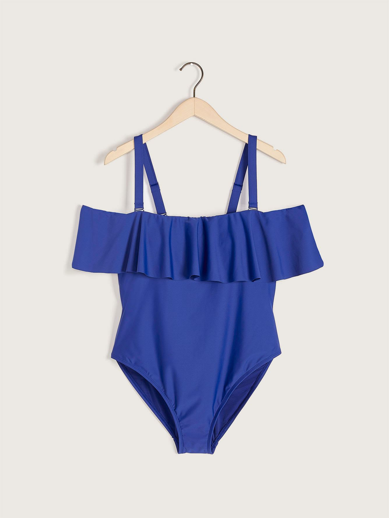 One-Piece Ruffle Swimsuit - Addition Elle